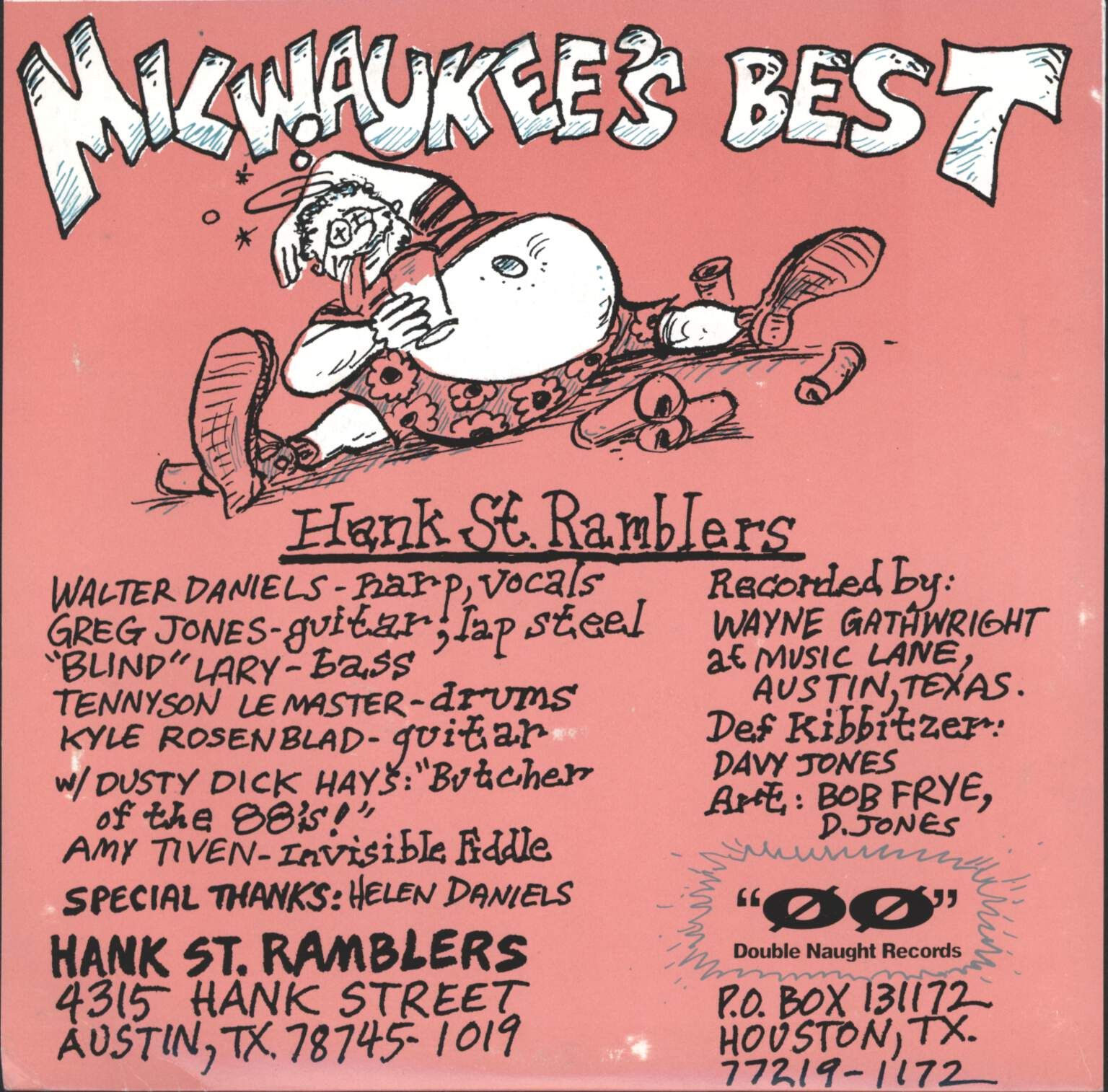 "Hank St. Ramblers: Itch To Floss / Ol' Milwaukee's Best, 7"" Single (Vinyl)"