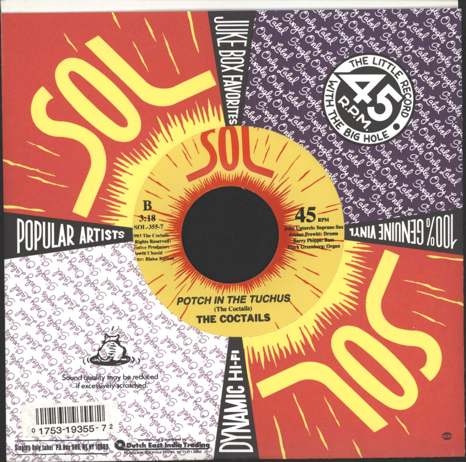 "Coctails: The Penguin / Powerhouse / Potch In The Tuchus, 7"" Single (Vinyl)"