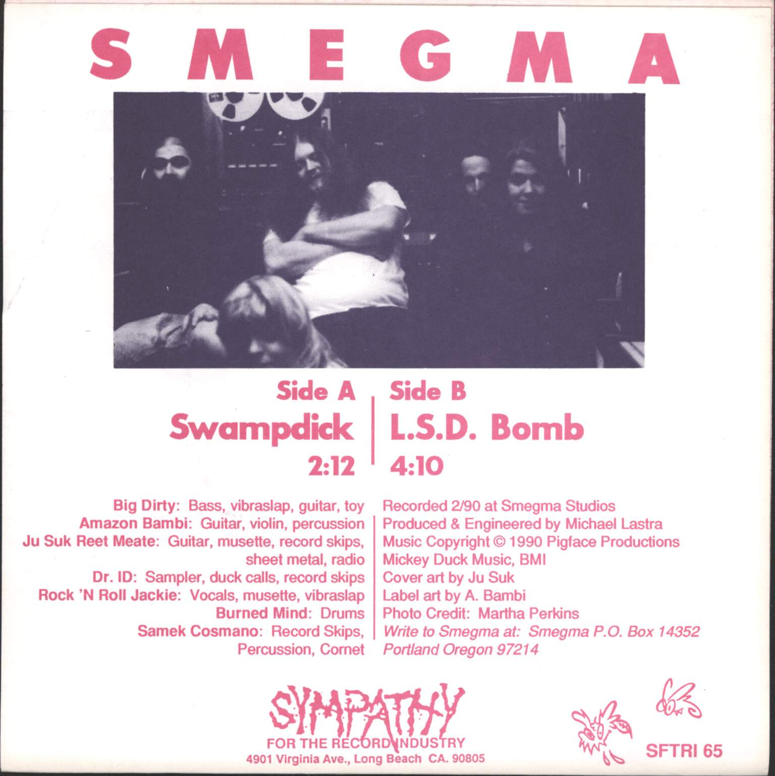 "Smegma (US): Swampdick, 7"" Single (Vinyl)"