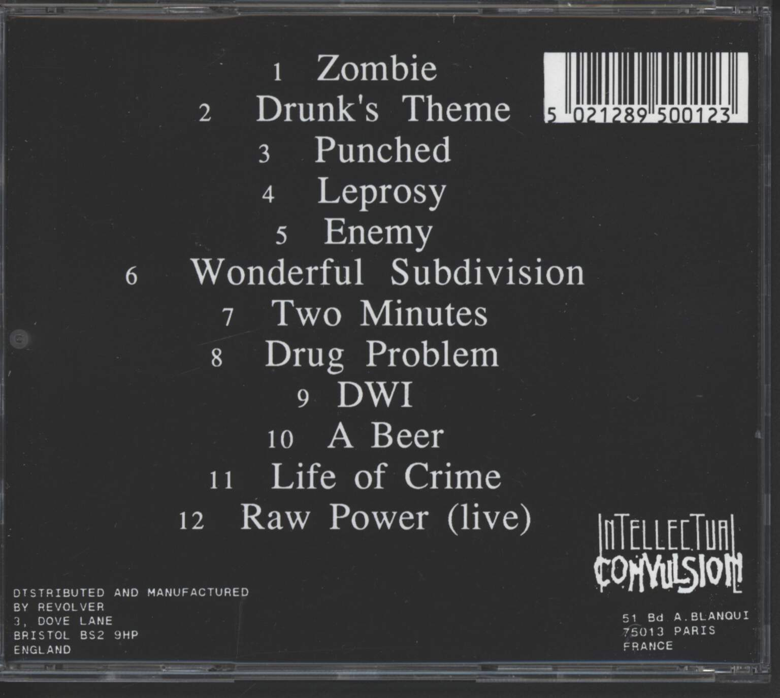 Drunks With Guns: Second Verses, CD