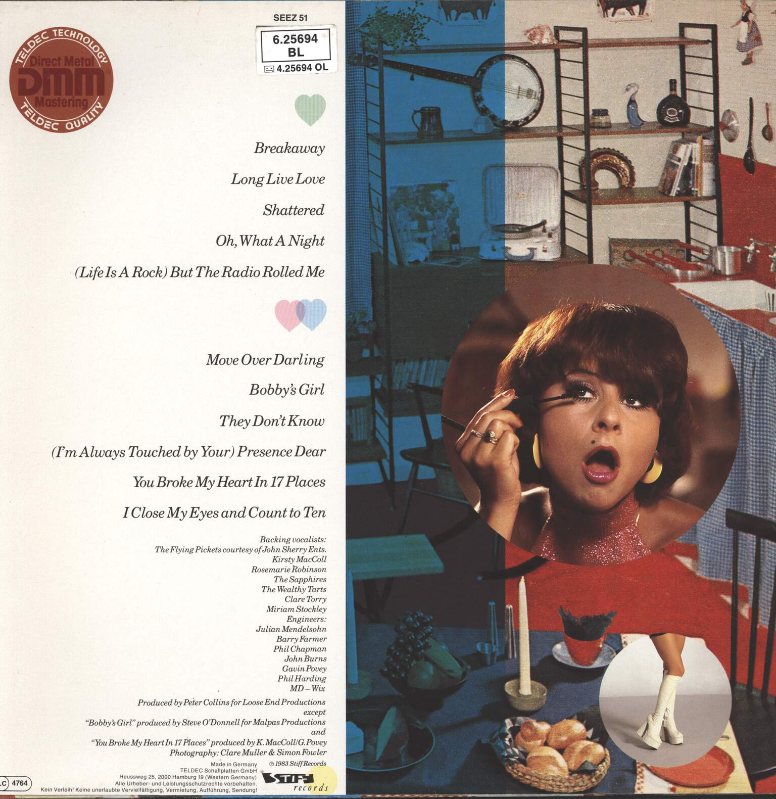 Tracey Ullman: You Broke My Heart In 17 Places, LP (Vinyl)