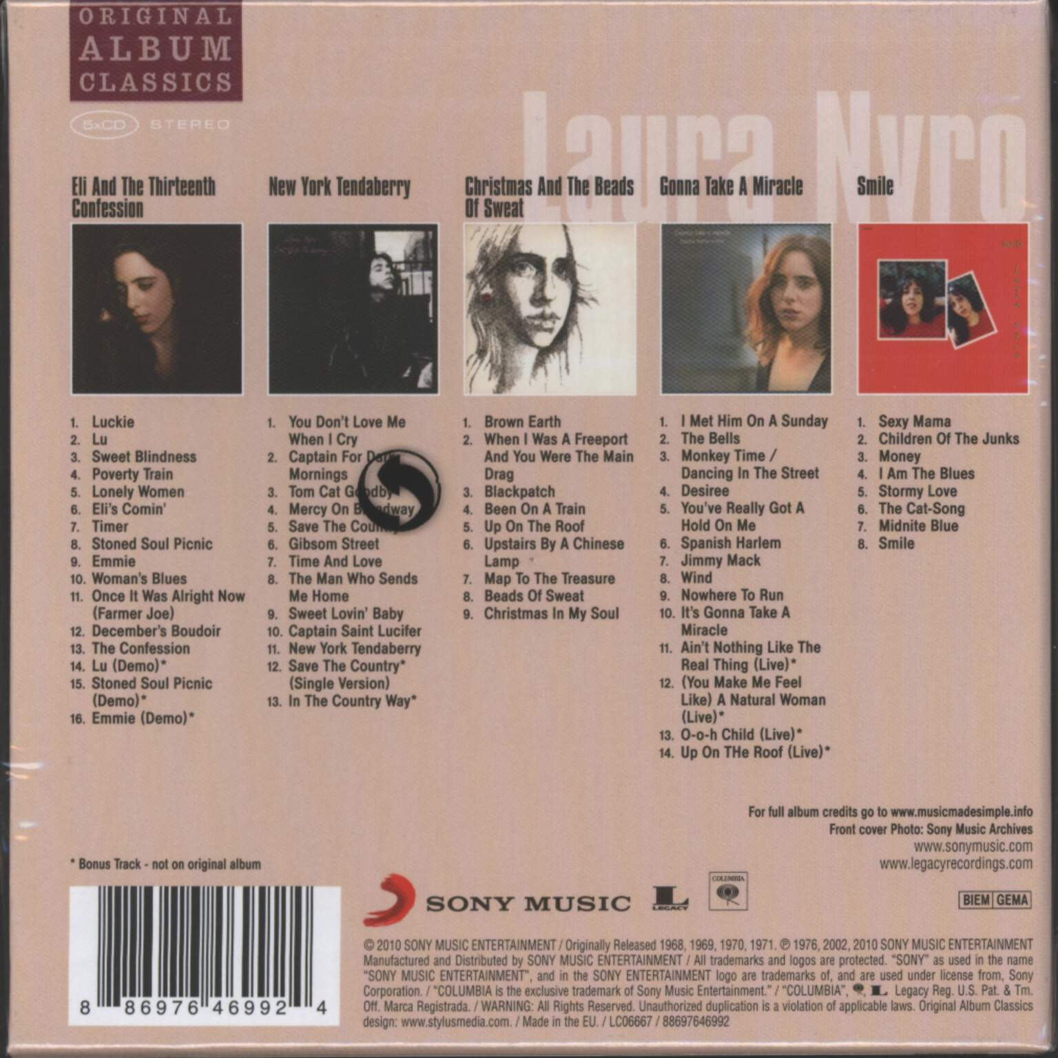 Laura Nyro: Original Album Classics, CD