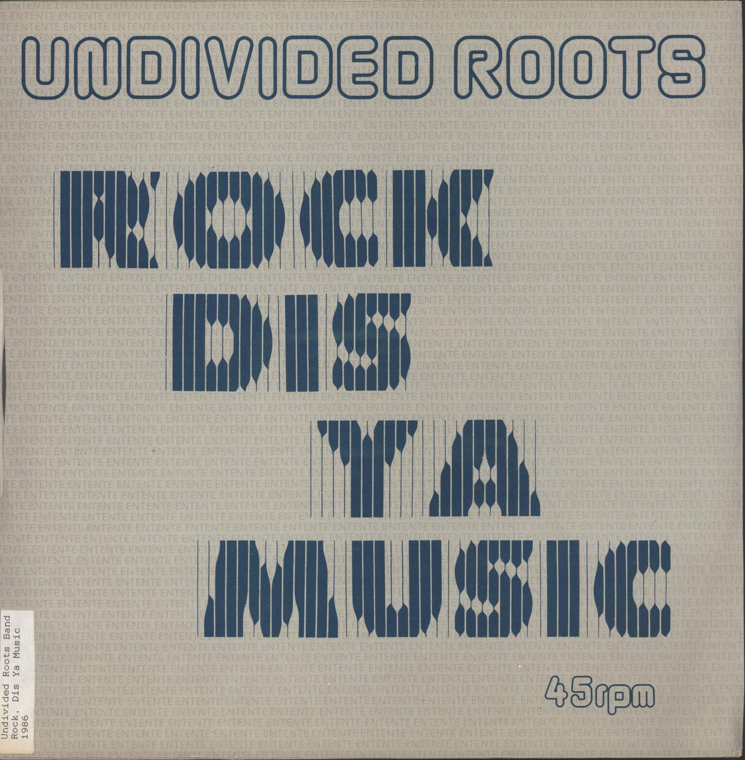 "Undivided Roots: Rock Dis Ya Music, 12"" Maxi Single (Vinyl)"