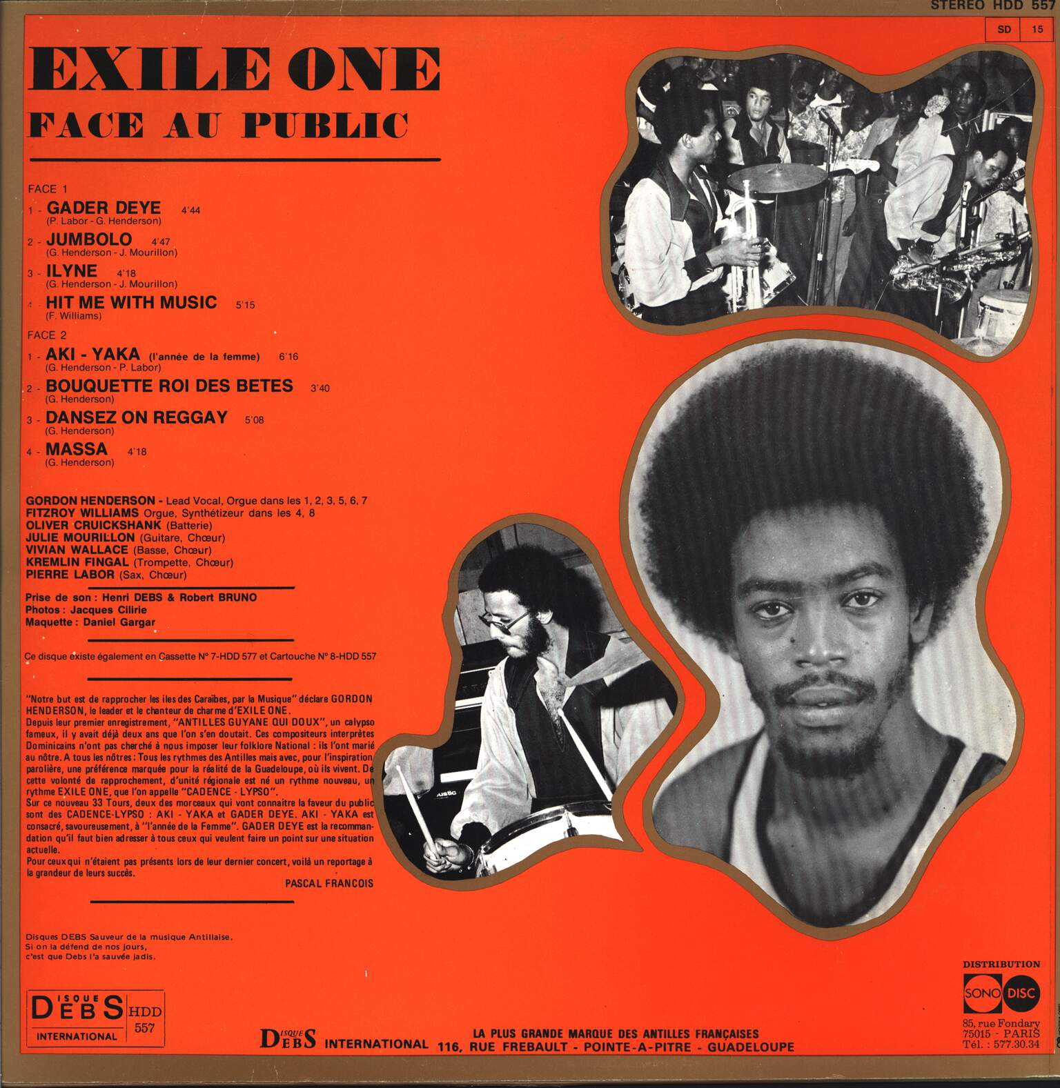 Exile One: Face Au Public, LP (Vinyl)