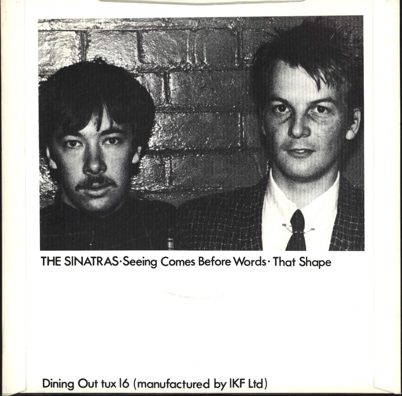 "Sinatras: Seeing Comes Before Words / That Shape, 7"" Single (Vinyl)"