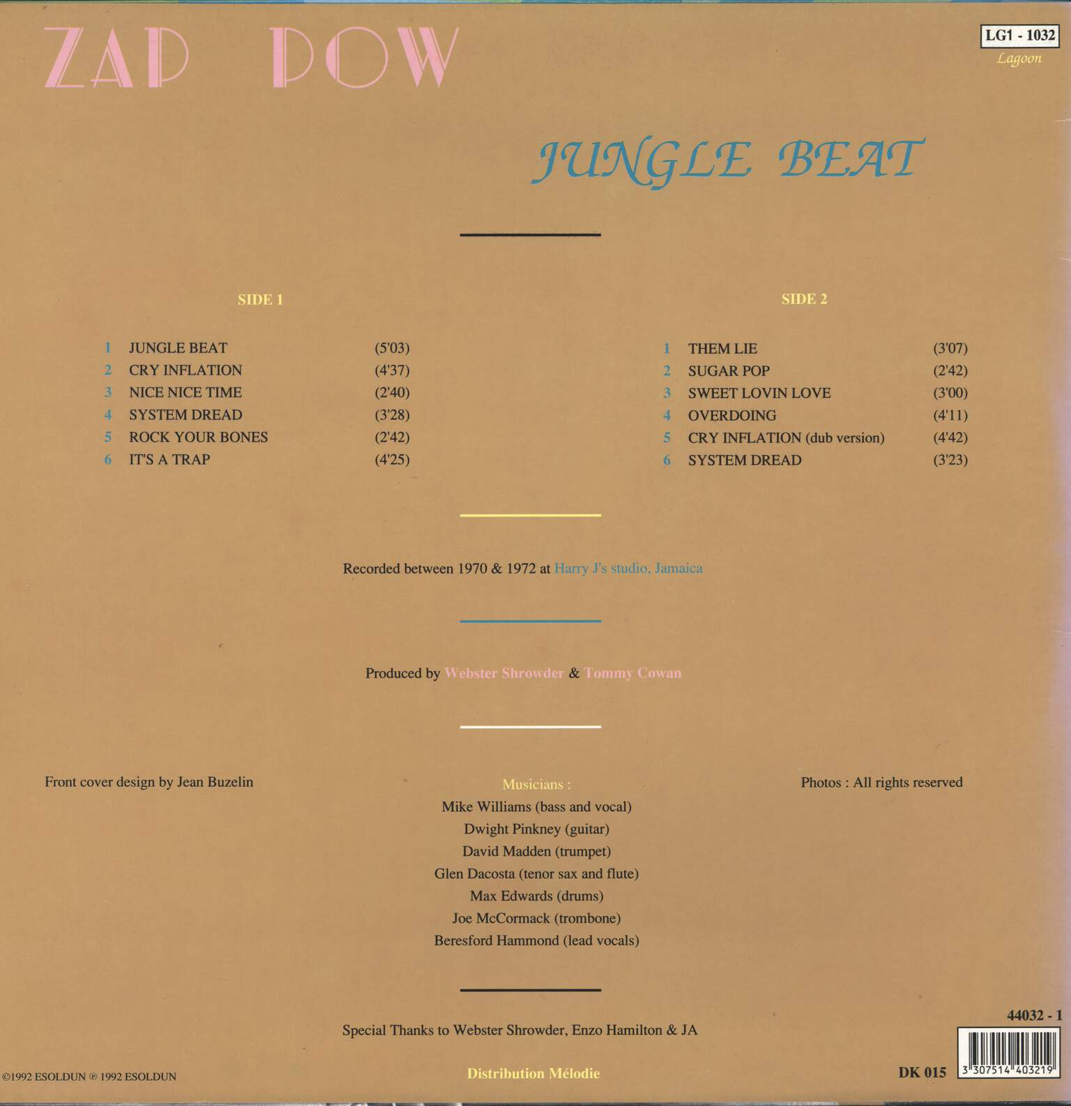Zap Pow: Jungle Beat, LP (Vinyl)