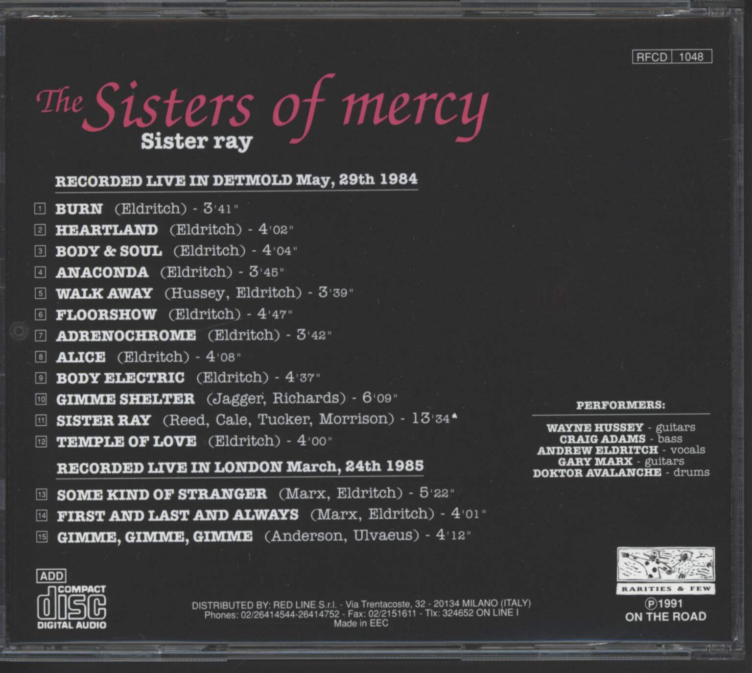 Sisters Of Mercy: Sister Ray, CD
