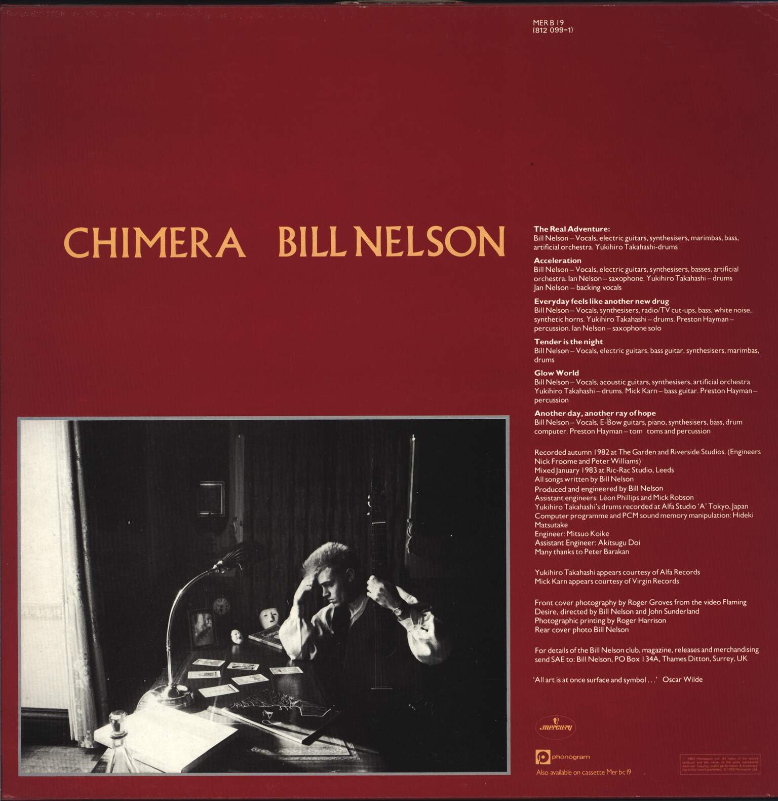 Bill Nelson: Chimera, Mini LP (Vinyl)
