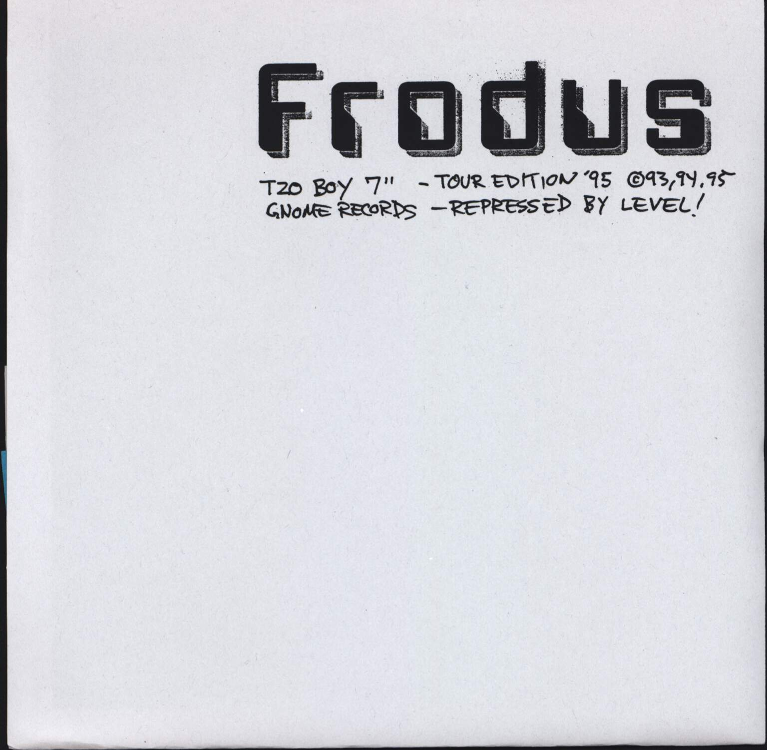 "Frodus: Tzo Boy, 7"" Single (Vinyl)"