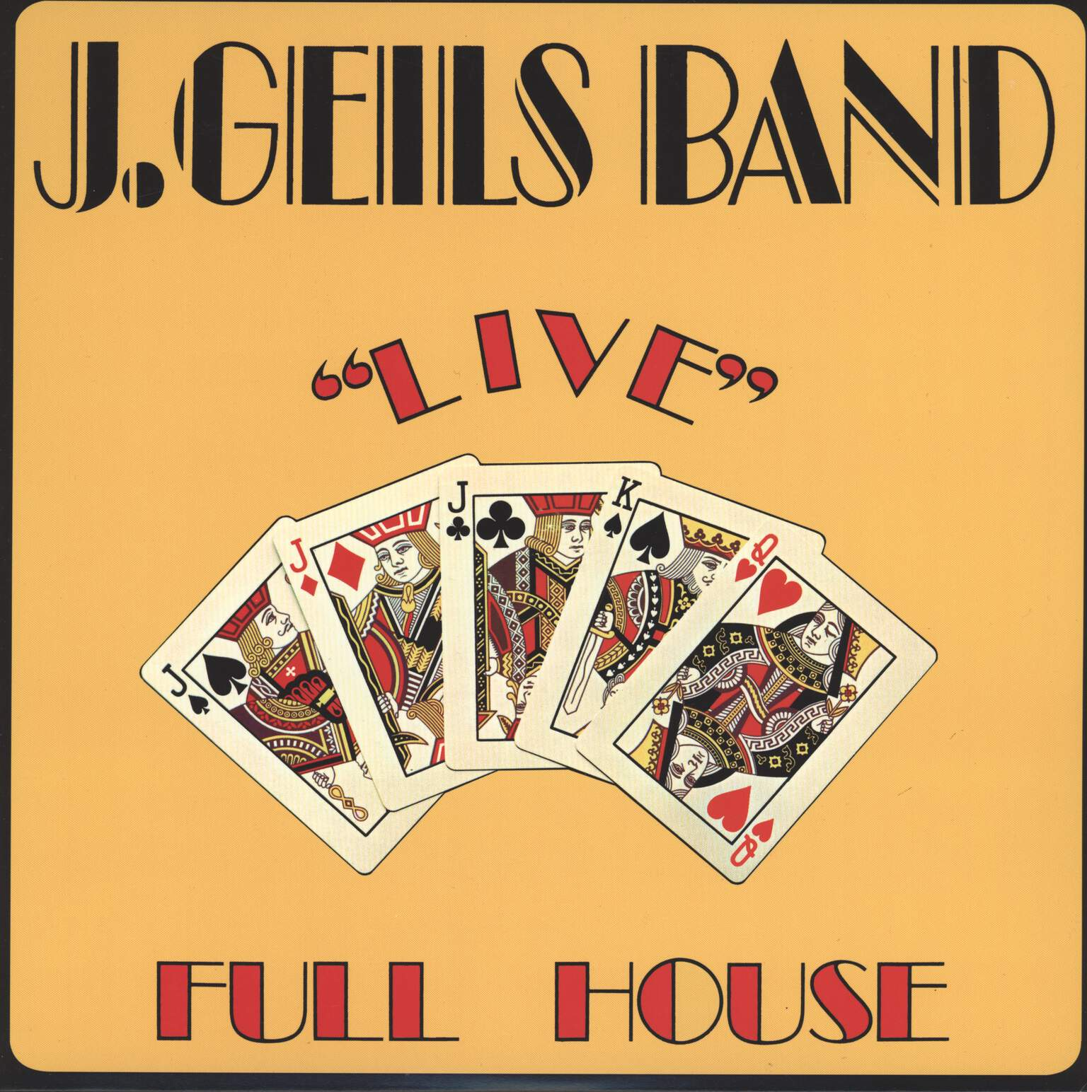 "J. Geils Band: ""Live"" Full House, LP (Vinyl)"