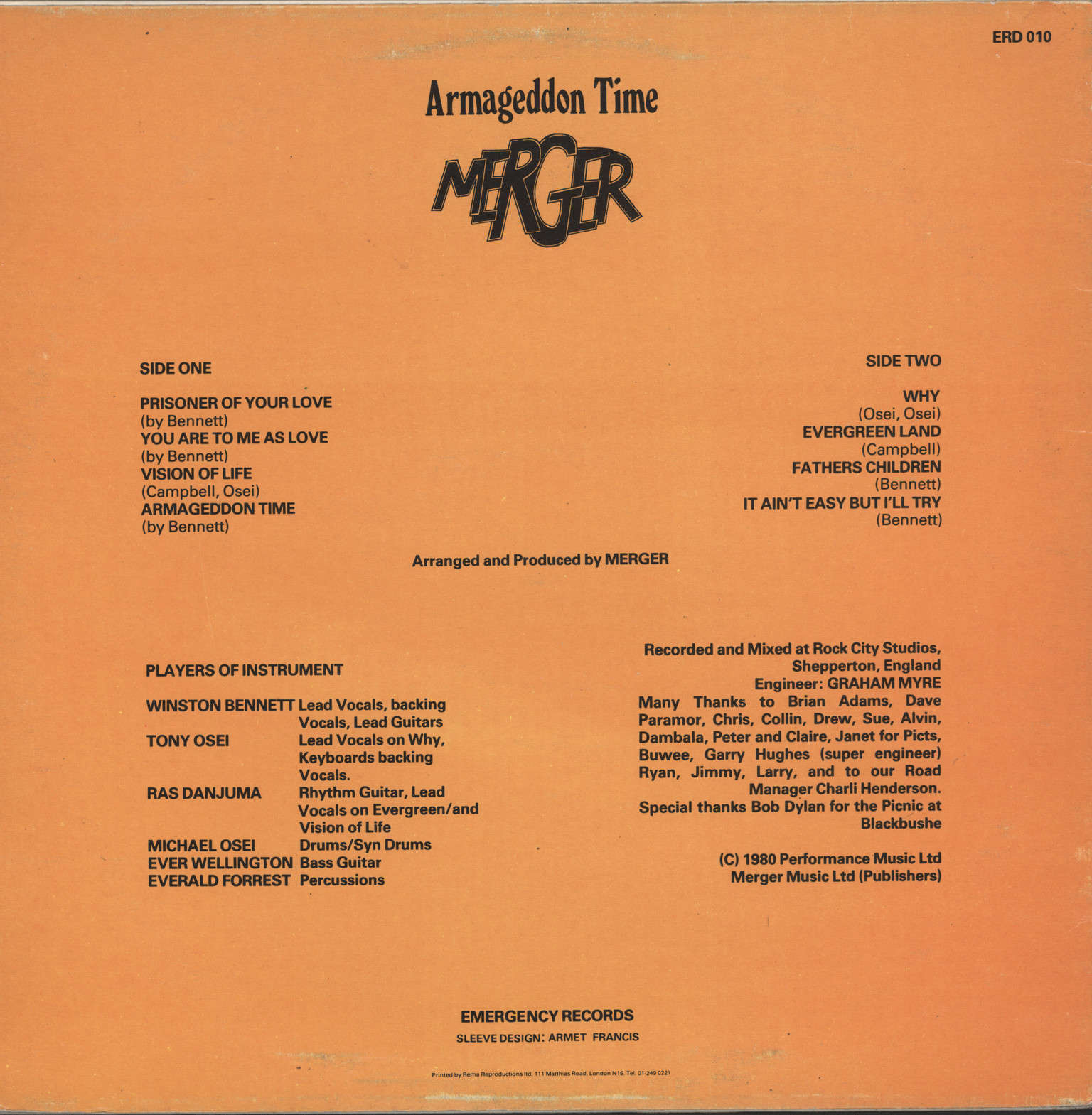 Merger: Armageddon Time, LP (Vinyl)