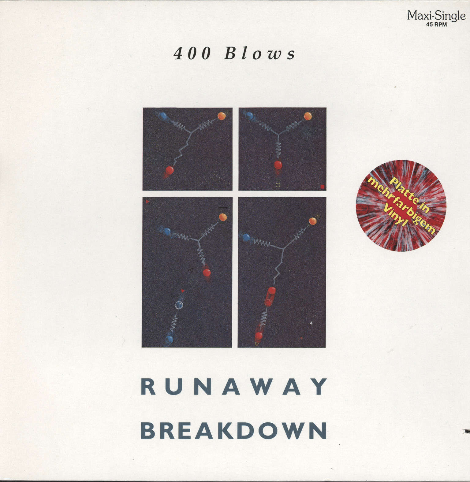 "400 Blows: Runaway / Breakdown, 12"" Maxi Single (Vinyl)"
