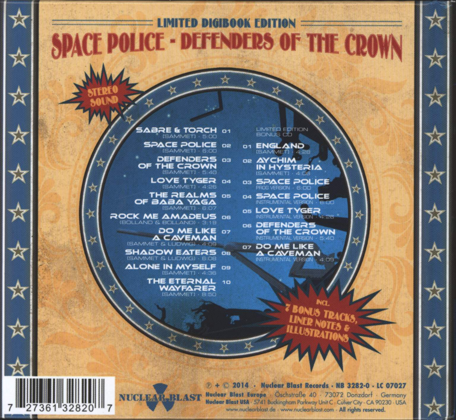 Edguy: Space Police - Defenders Of The Crown, CD