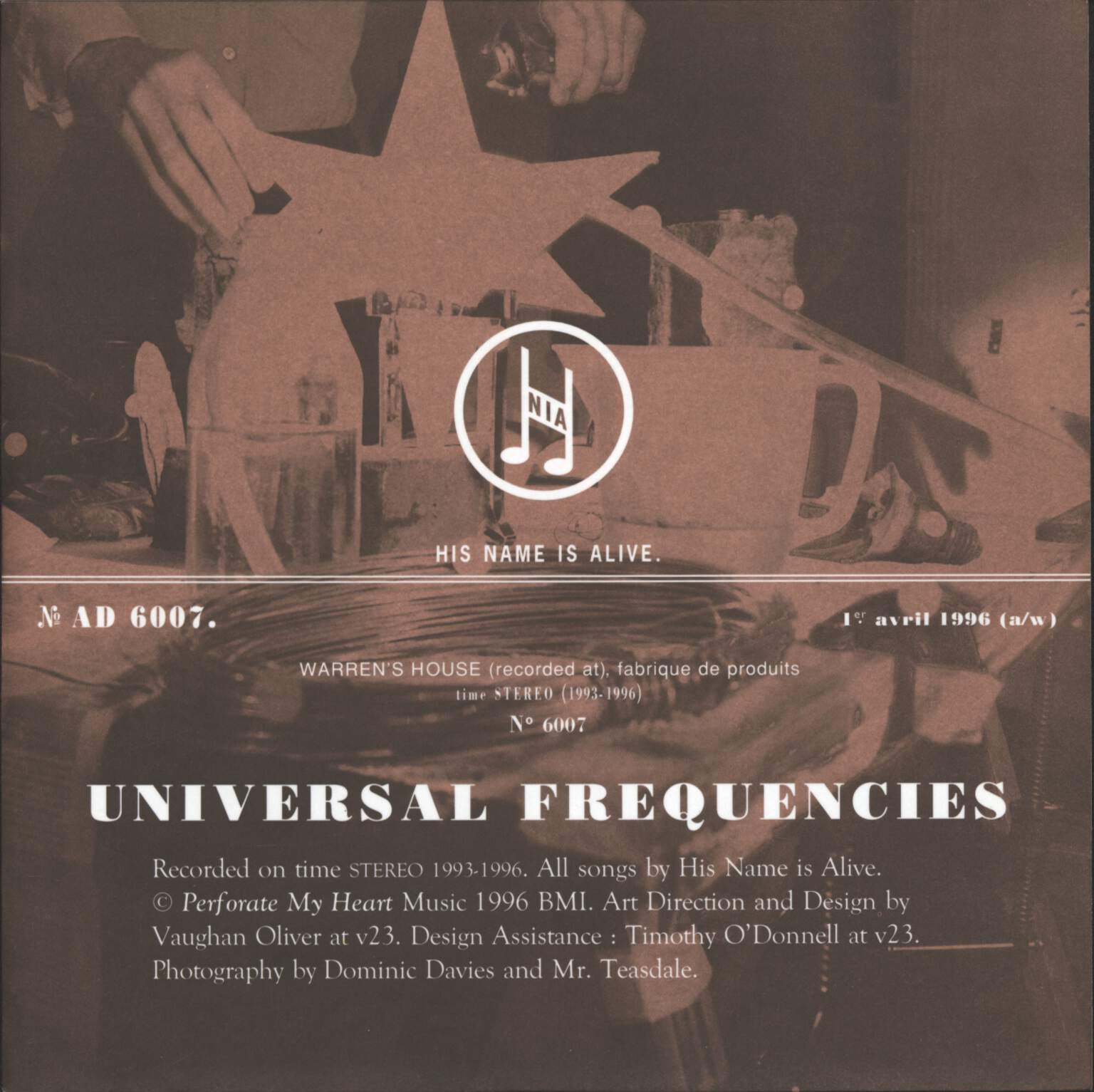 "His Name Is Alive: Universal Frequencies, 7"" Single (Vinyl)"
