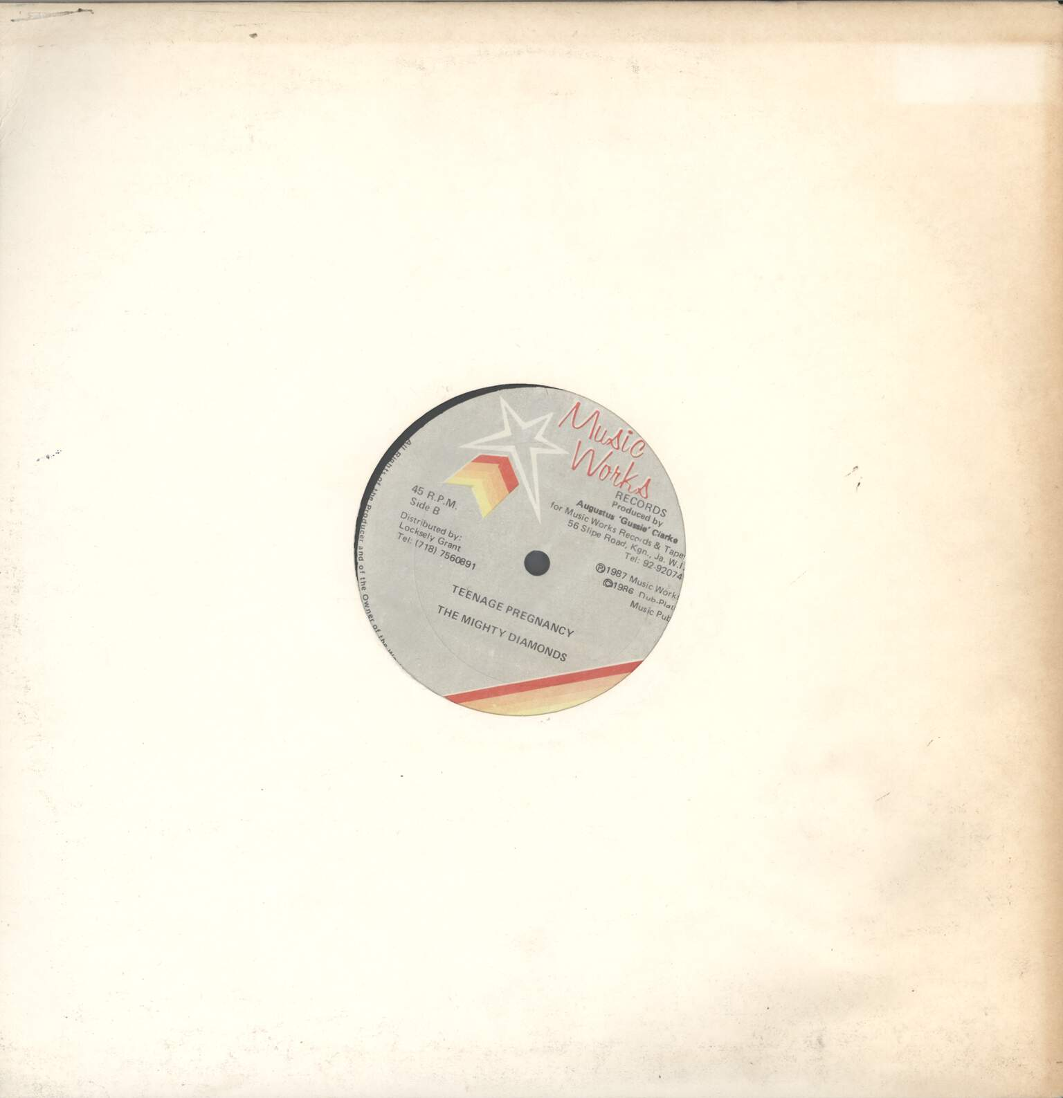 "Mighty Diamonds: Gang War / Teenage Pregnancy, 12"" Maxi Single (Vinyl)"