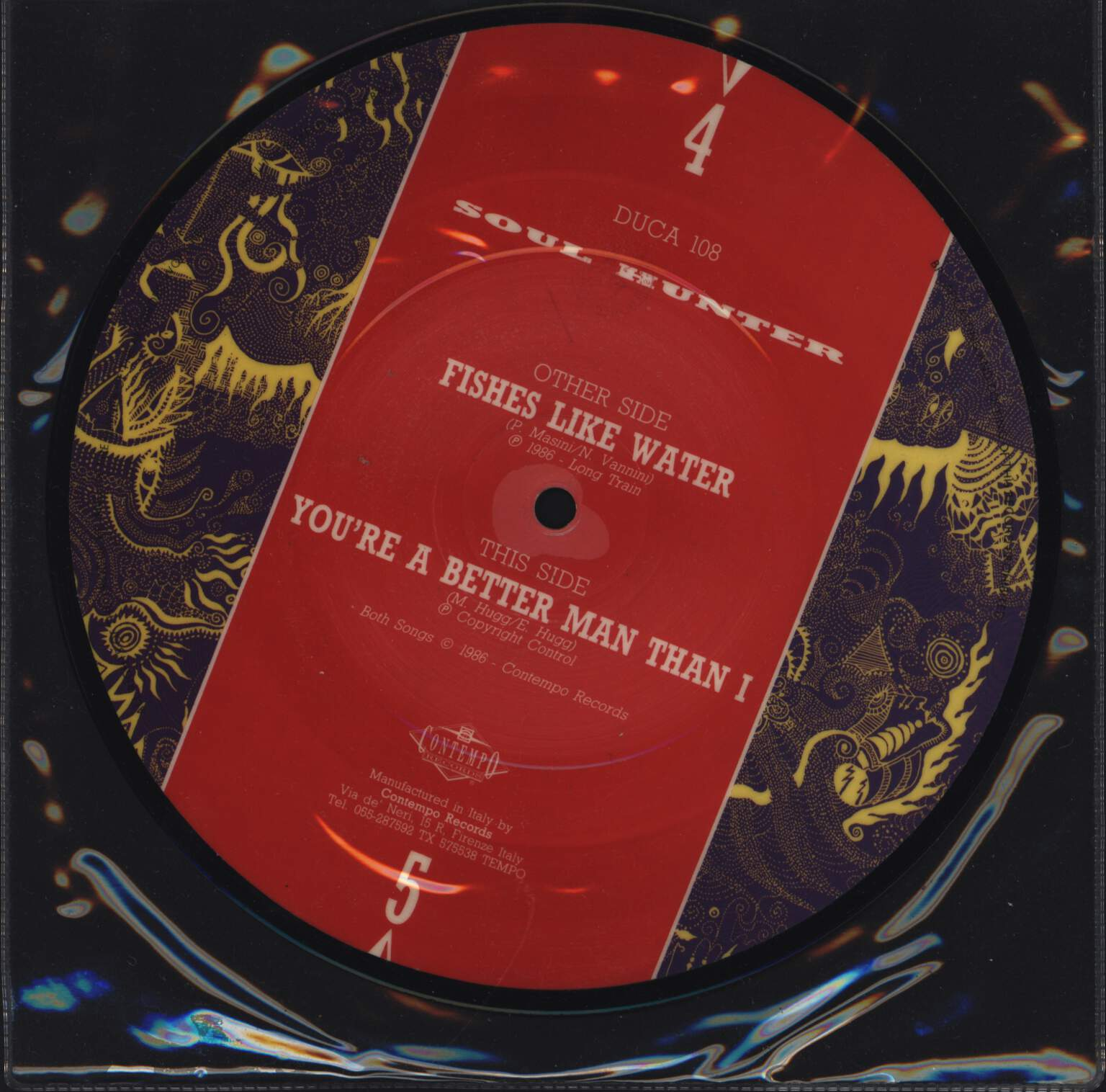 "Soul Hunter: Fishes Like Water / You're A Better Man Than I, 7"" Single (Vinyl)"