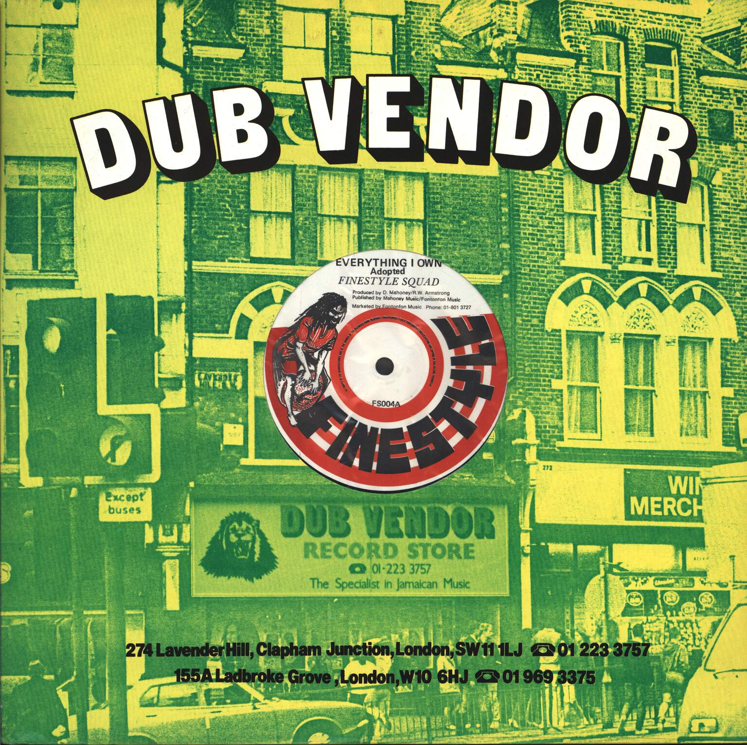 "Finestyle Squad: Everything I Own / Dub Version, 12"" Maxi Single (Vinyl)"
