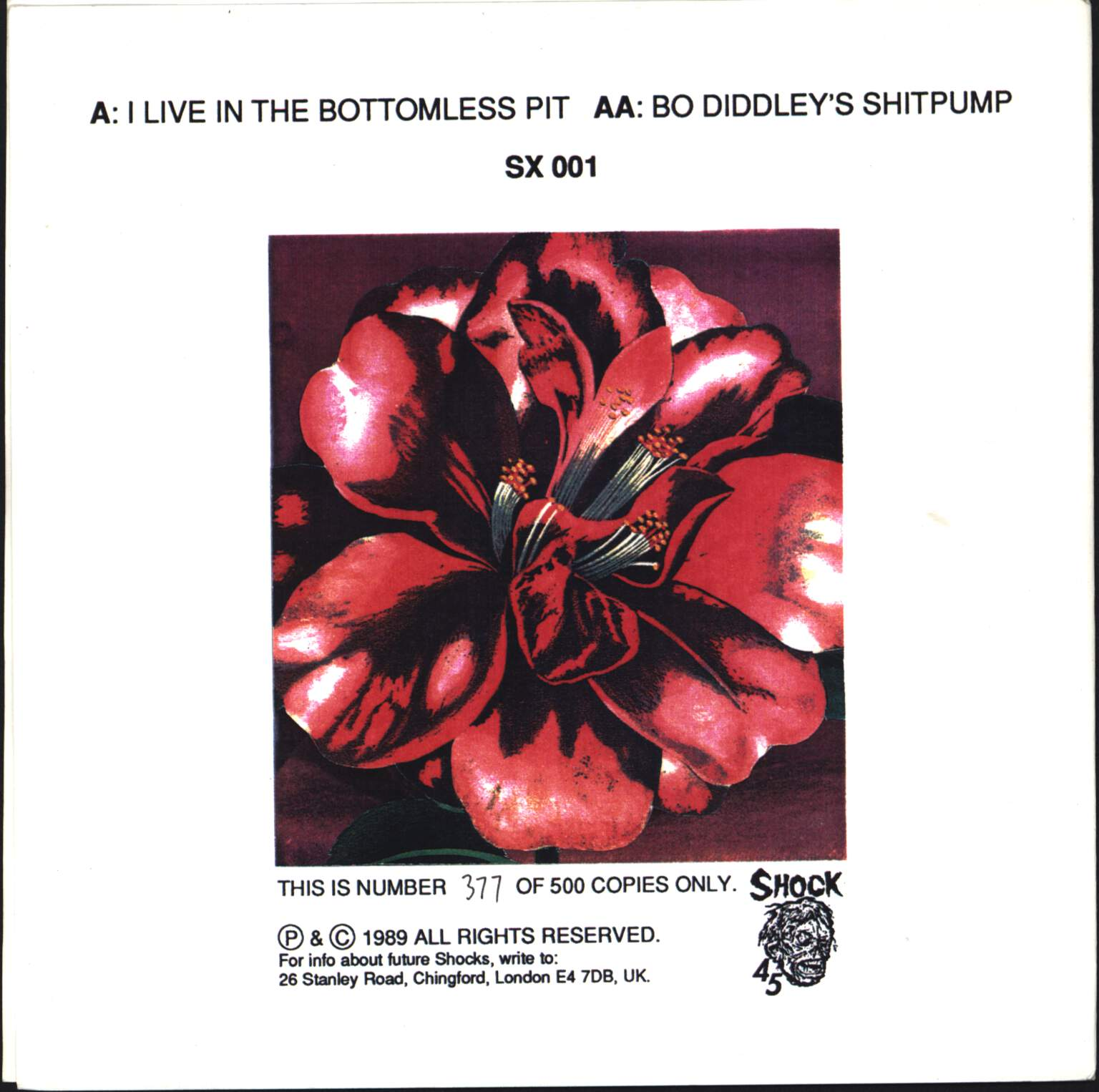"Skullflower: I Live In The Bottomless Pit / Bo Diddley's Shitpump, 7"" Single (Vinyl)"