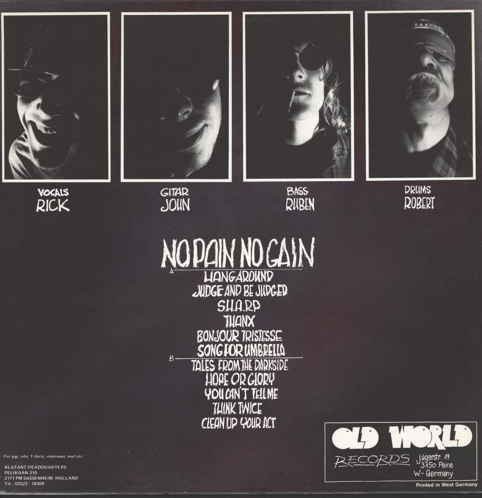 Blatant Yobs: No Pain No Gain, LP (Vinyl)