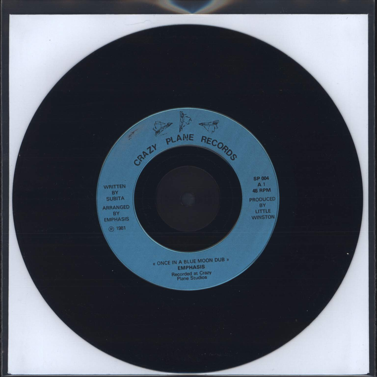 "Subita: Once In A Blue Moon, 7"" Single (Vinyl)"