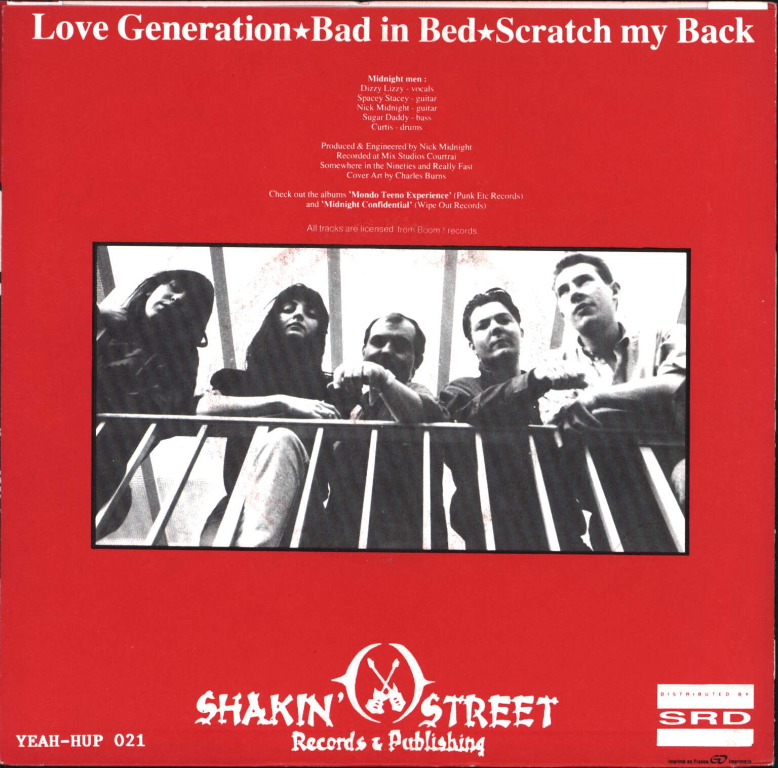 "Midnight Men: Love Generation / Bad In Bed, 7"" Single (Vinyl)"