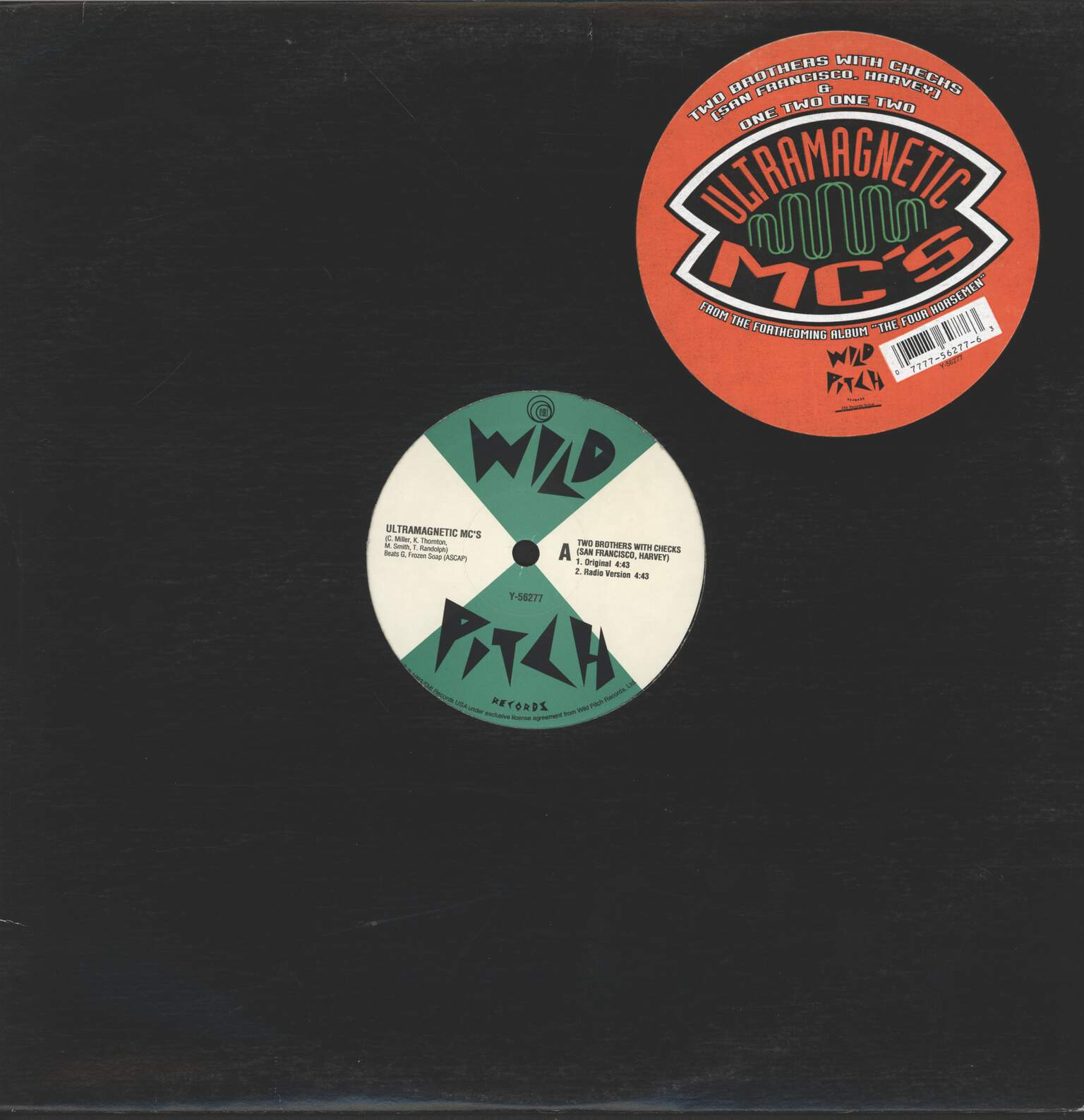 "Ultramagnetic Mc's: Two Brothers With Checks (San Francisco, Harvey), 12"" Maxi Single (Vinyl)"