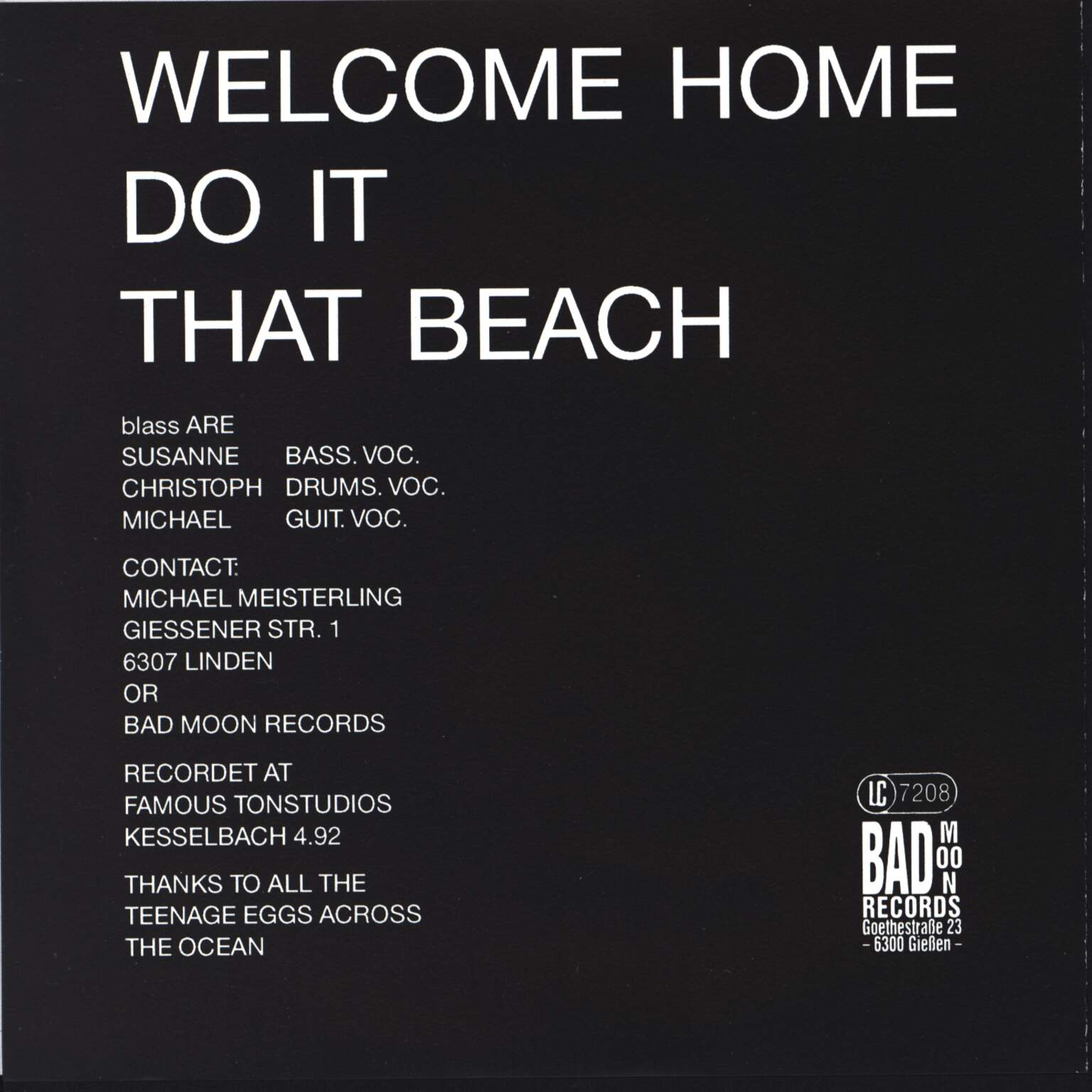 "Blass: Welcome Home, 7"" Single (Vinyl)"