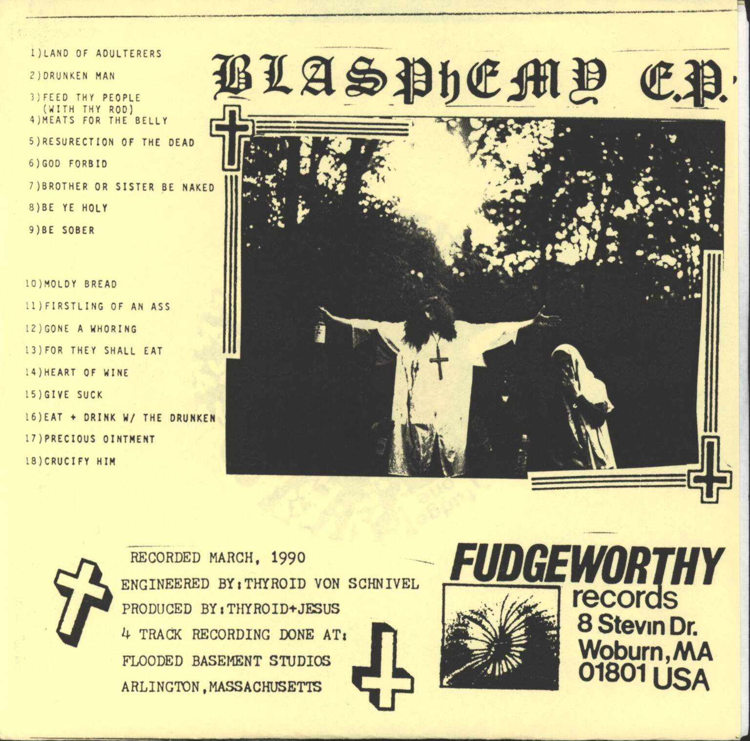 "Jesus Chrust: Blasphemy E.P., 7"" Single (Vinyl)"