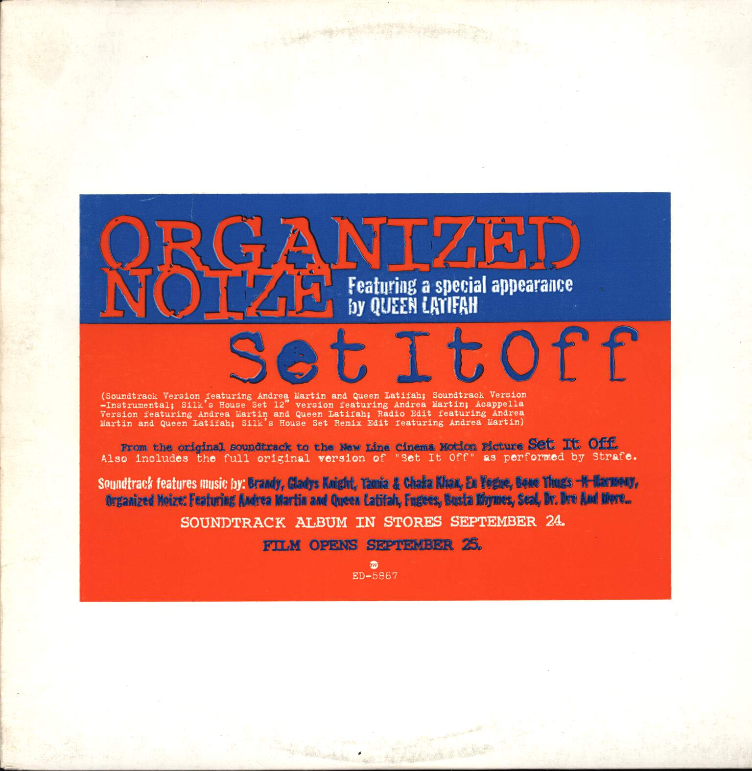 "Organized Noize: Set It Off, 12"" Maxi Single (Vinyl)"