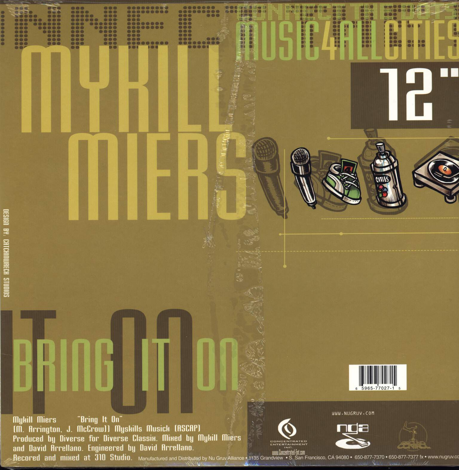 "Mykill Miers: Bring It On / Twist Of Lime / Run This, 12"" Maxi Single (Vinyl)"