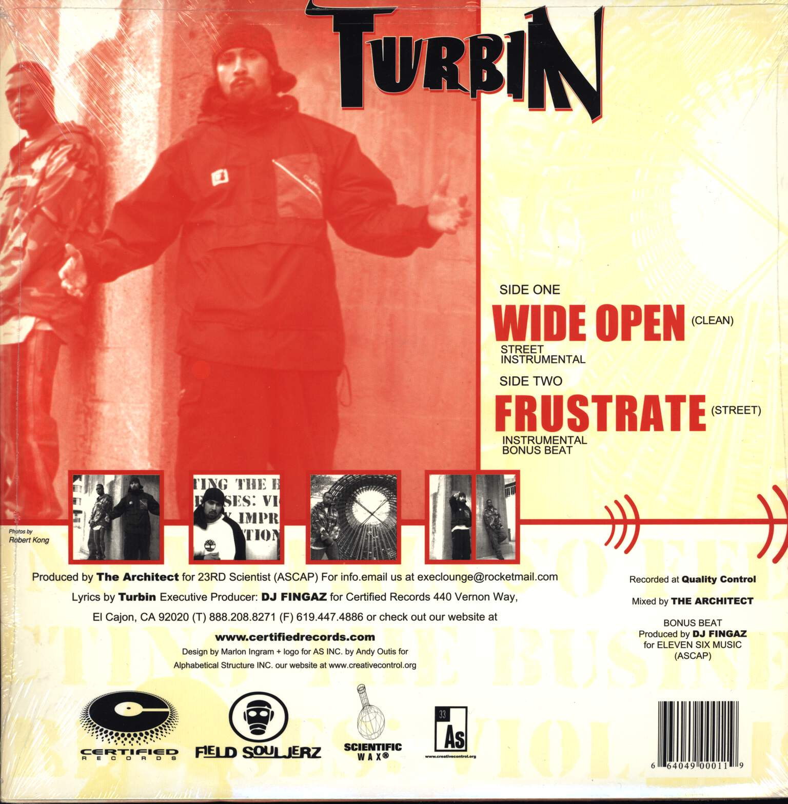 "Turbin: Wide Open / Frustrate, 12"" Maxi Single (Vinyl)"