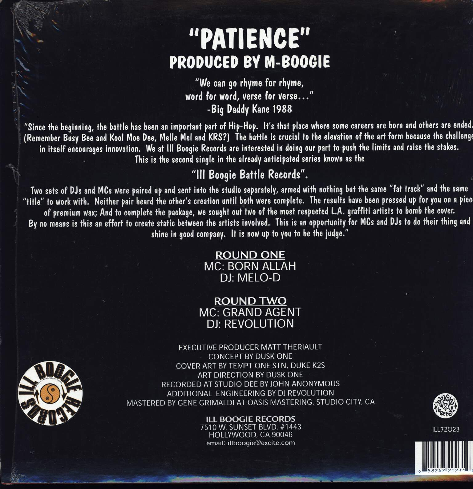 "Born Allah: Patience, 12"" Maxi Single (Vinyl)"