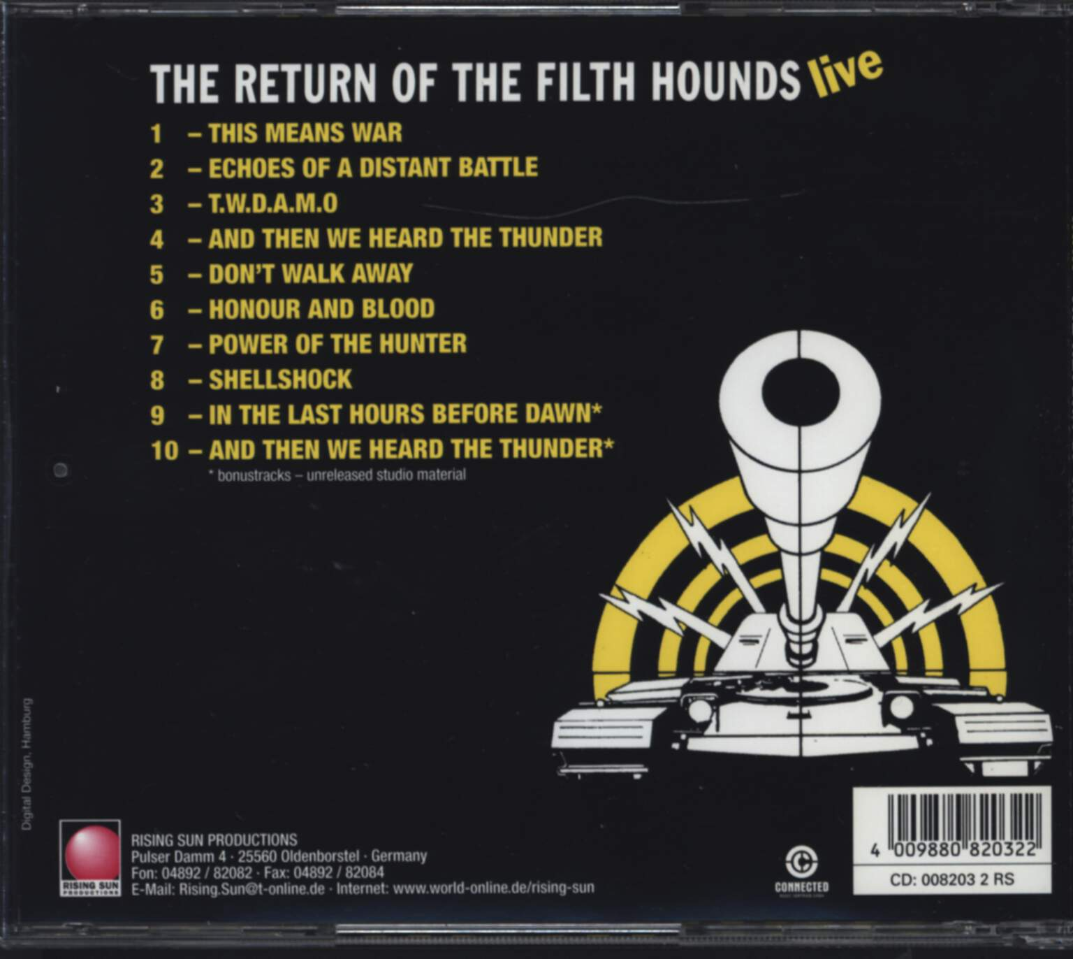 Tank: The Return Of The Filth Hounds - Live, CD