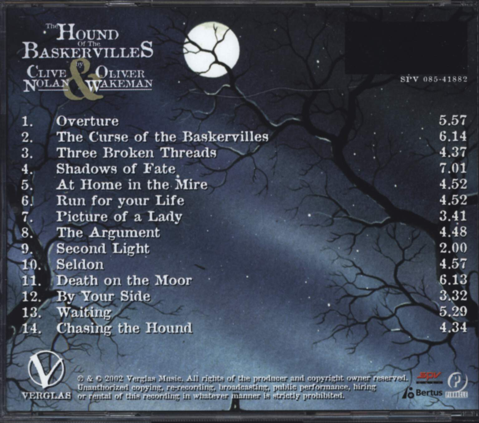 Clive Nolan: The Hound Of The Baskervilles, CD