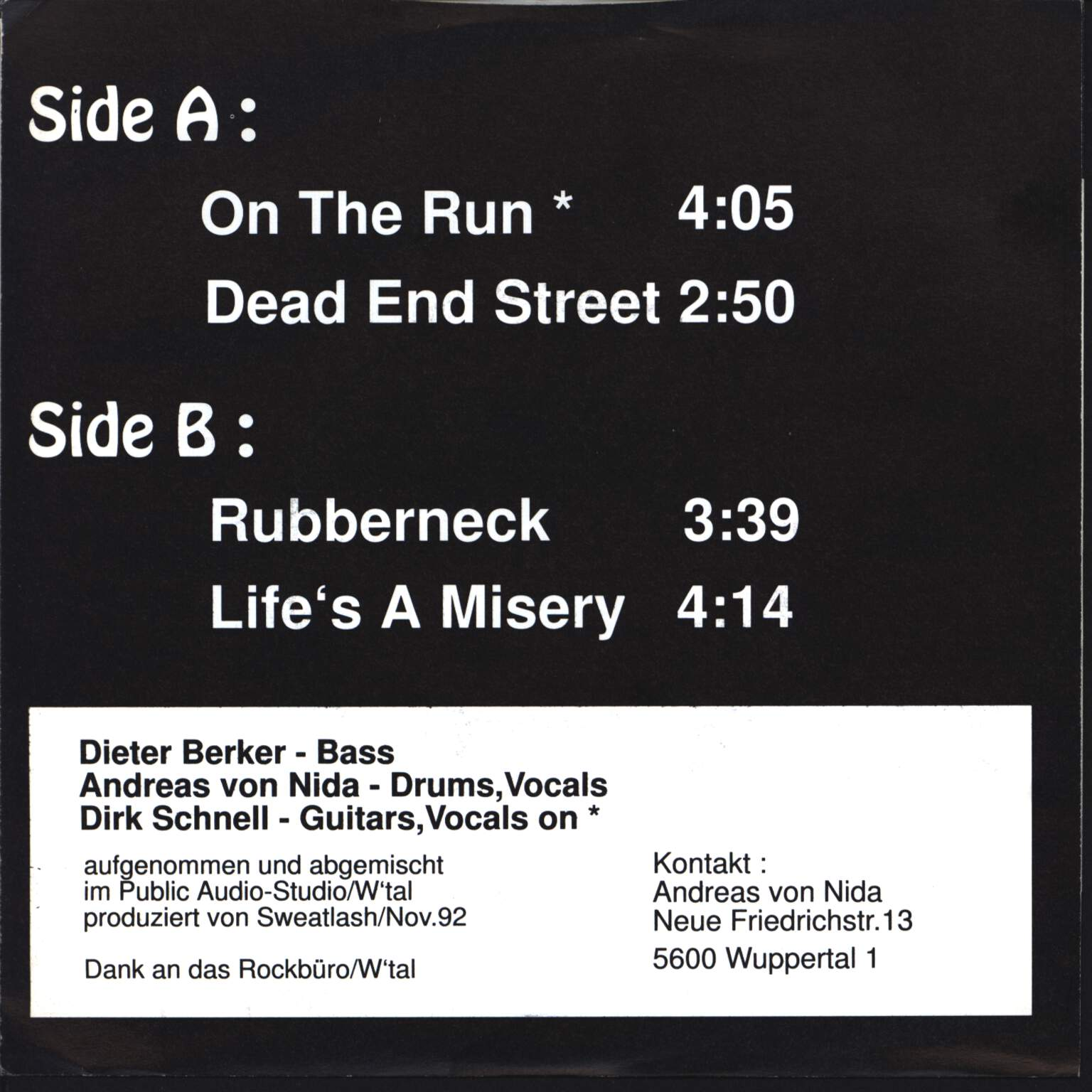 "Sweatlash: Rubberneck-EP, 7"" Single (Vinyl)"