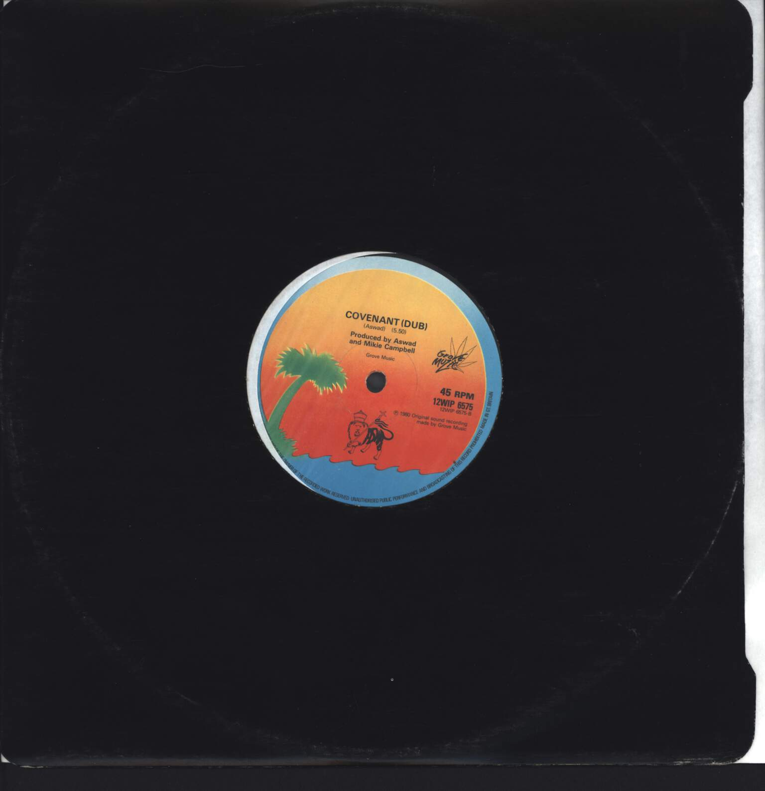"Aswad: Rainbow Culture / Covenant Dub, 12"" Maxi Single (Vinyl)"