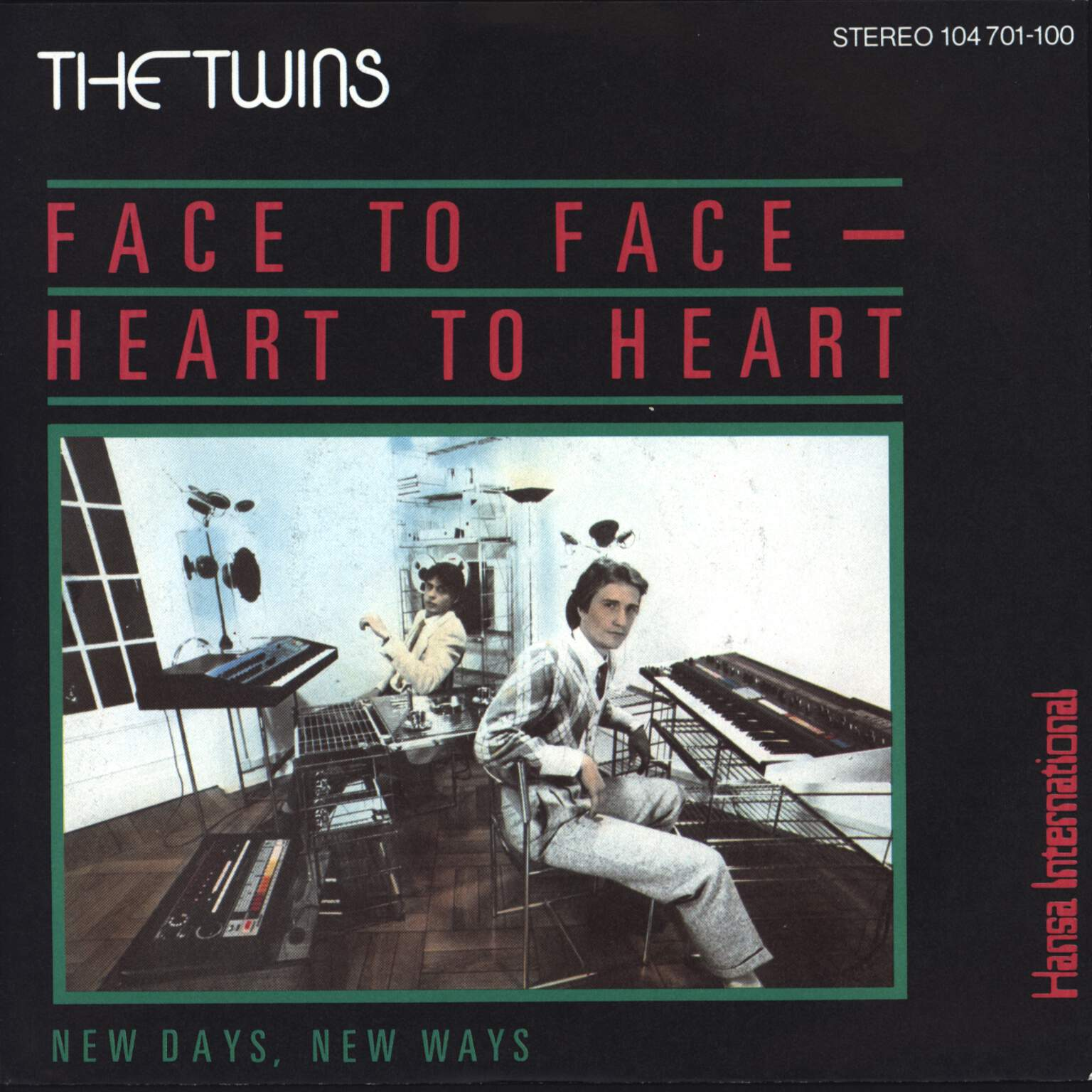 "The Twins: Face To Face - Heart To Heart, 7"" Single (Vinyl)"