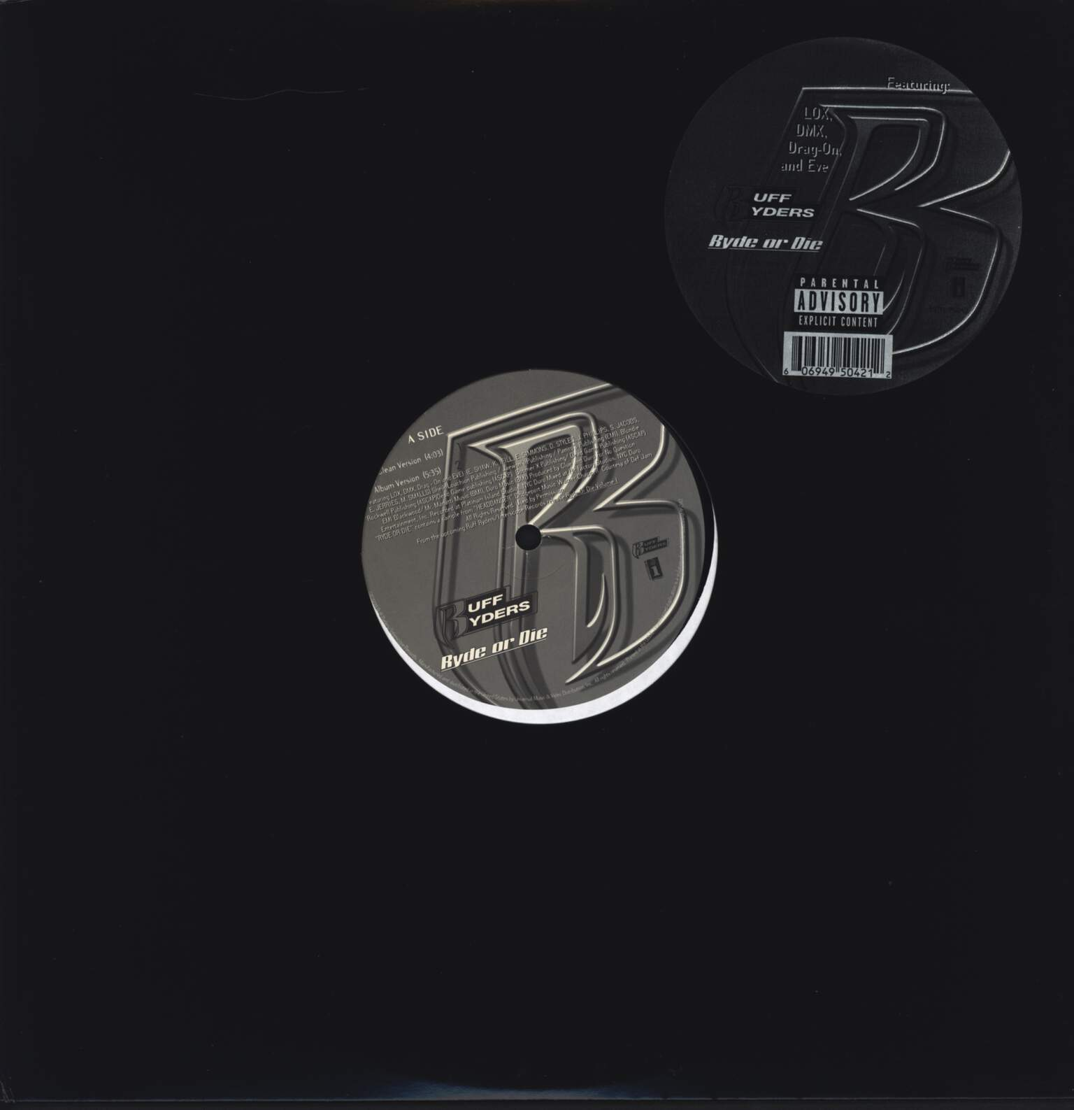 "Ruff Ryders: Ryde Or Die, 12"" Maxi Single (Vinyl)"