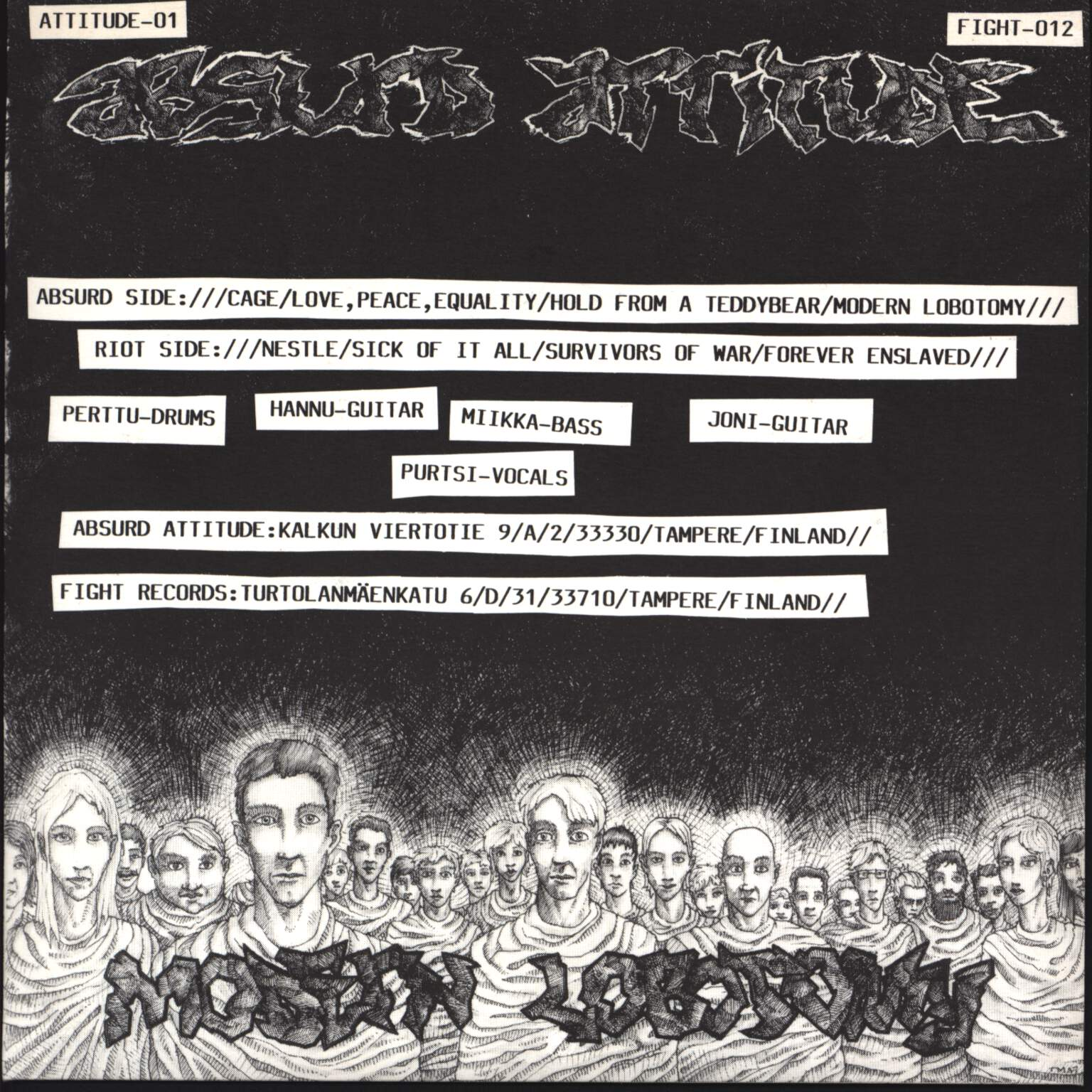 "Absurd Attitude: Modern Lobotomy, 7"" Single (Vinyl)"