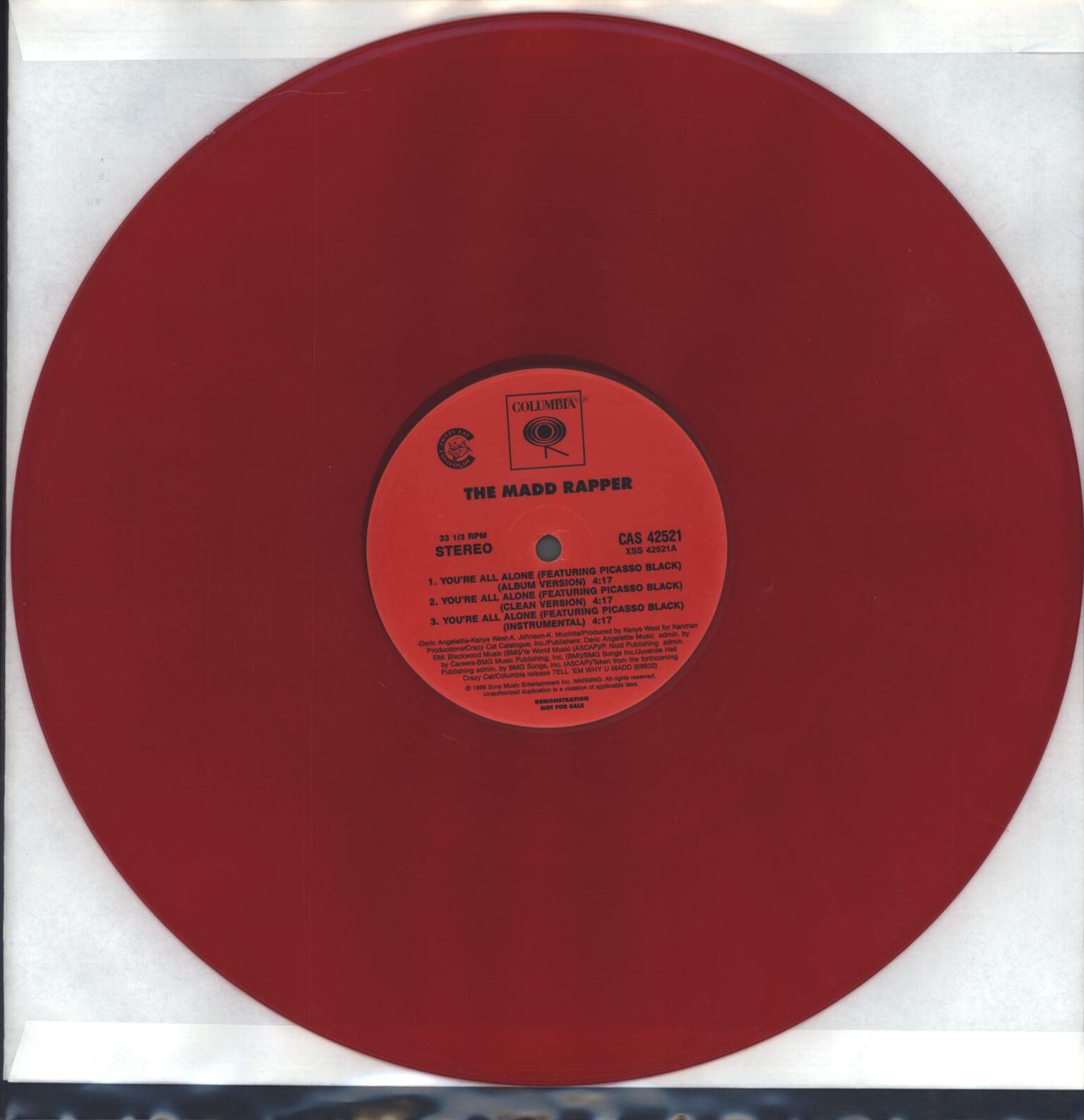 "Madd Rapper: You're All Alone / DOT Vs. TMR, 12"" Maxi Single (Vinyl)"