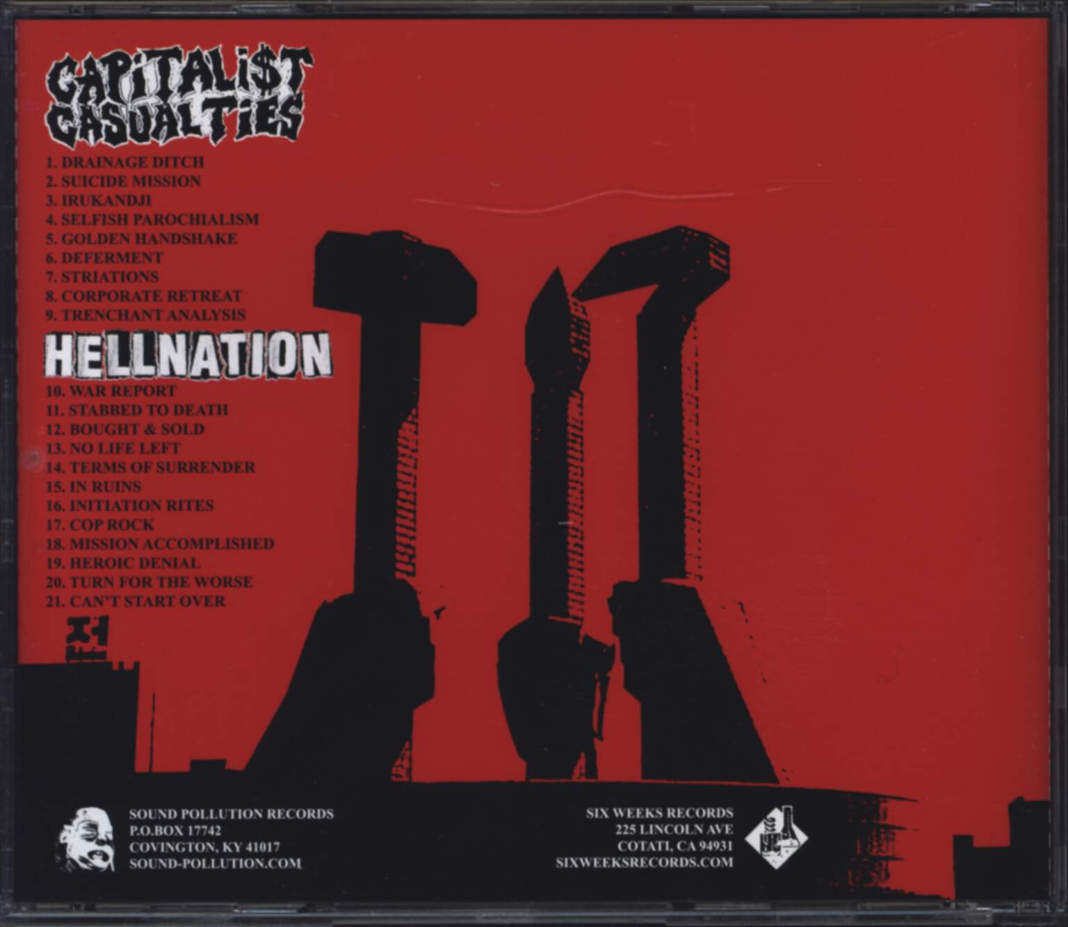 Capitalist Casualties: Capitalist Casualties / Hellnation, CD