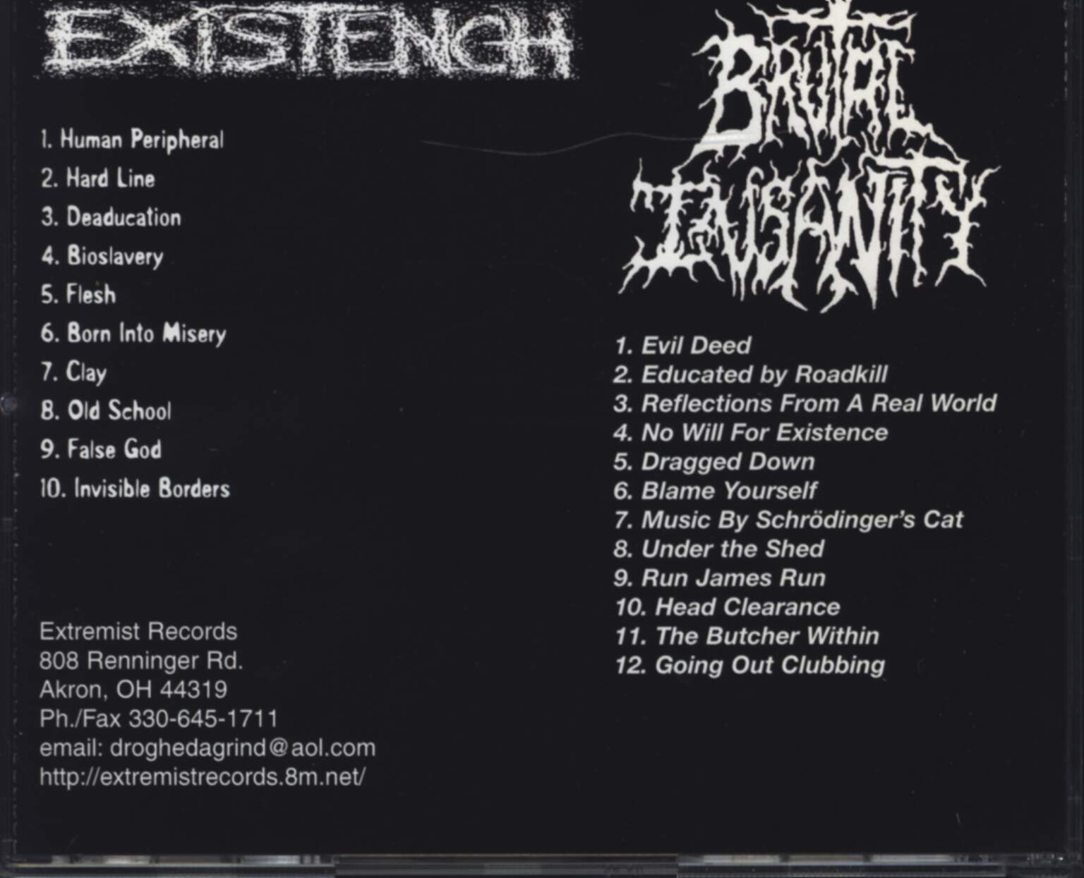 Existench: Anti Psalms / Society Kill Catalyst, CD