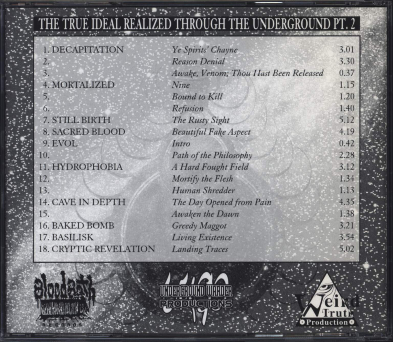 Various: The True Ideal Realized Through The Underground Pt.2, CD