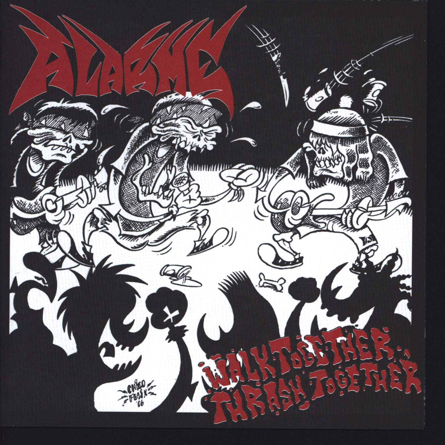 "Alarme: Walk Together, Thrash Together, 7"" Single (Vinyl)"