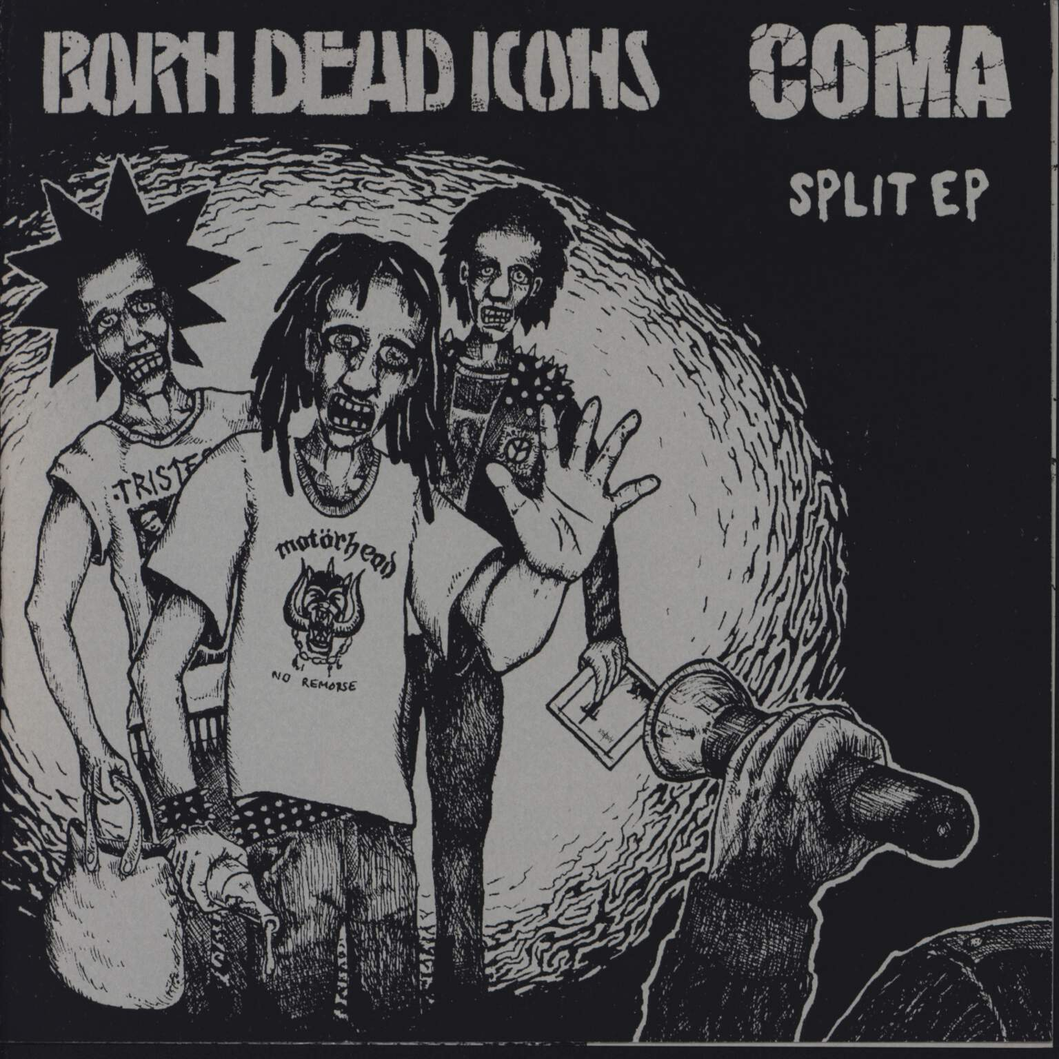 "Born Dead Icons: Split EP, 7"" Single (Vinyl)"