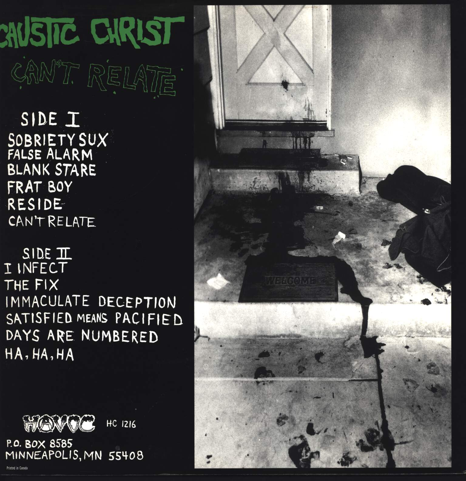 "Caustic Christ: Can't Relate, 12"" Maxi Single (Vinyl)"