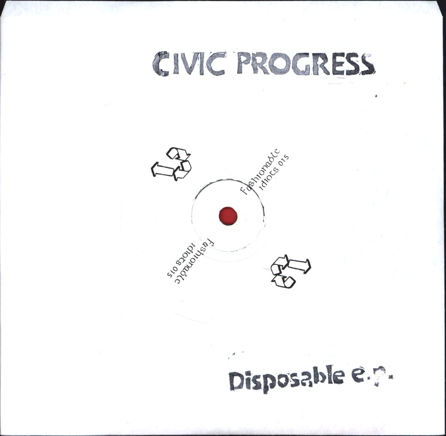 "Civic Progress: Disposable E.p., 7"" Single (Vinyl)"