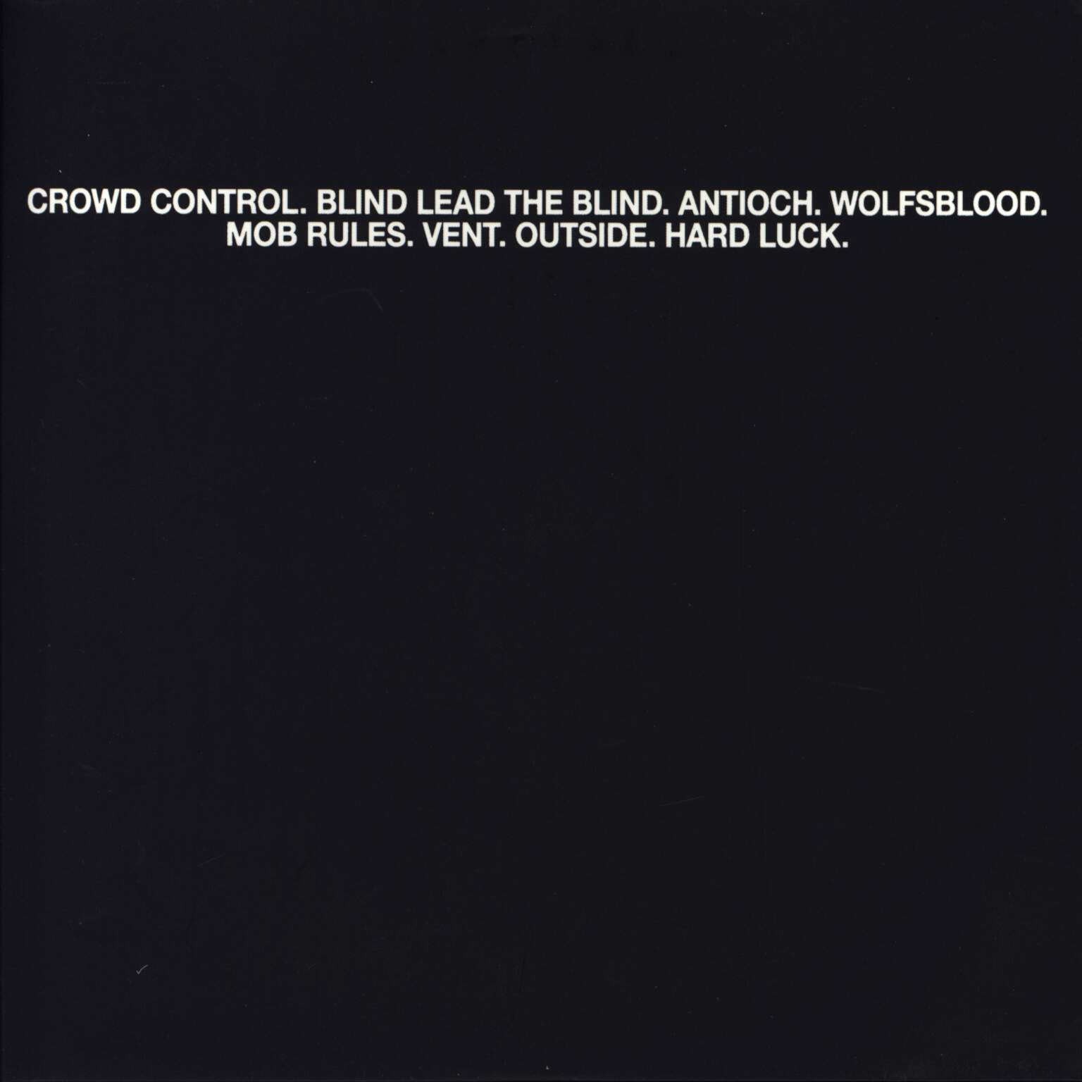 "Crowd Control: Crowd Control/Mob Rules, 7"" Single (Vinyl)"
