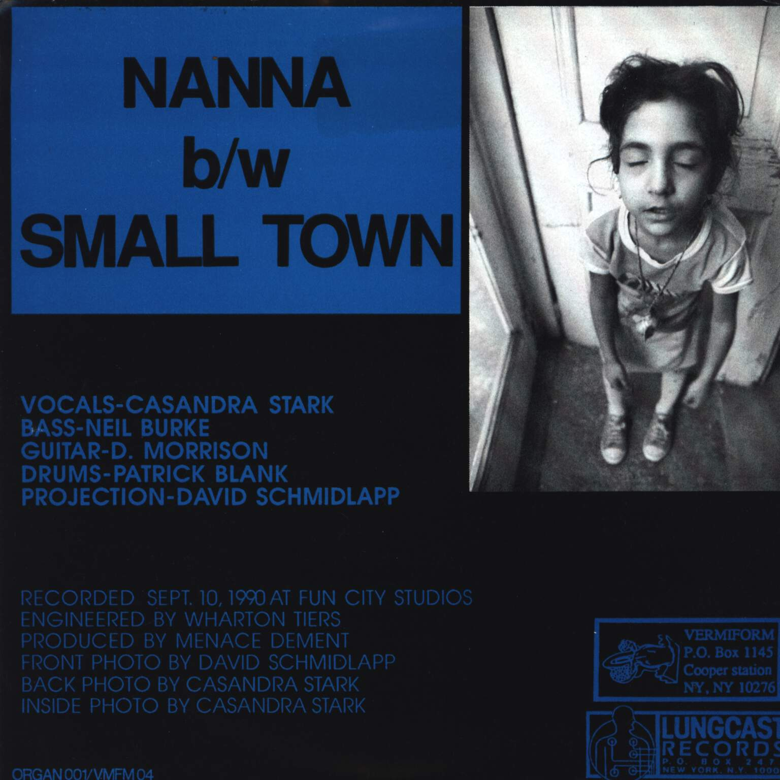"Menace Dement: Nanna / Small Town, 7"" Single (Vinyl)"