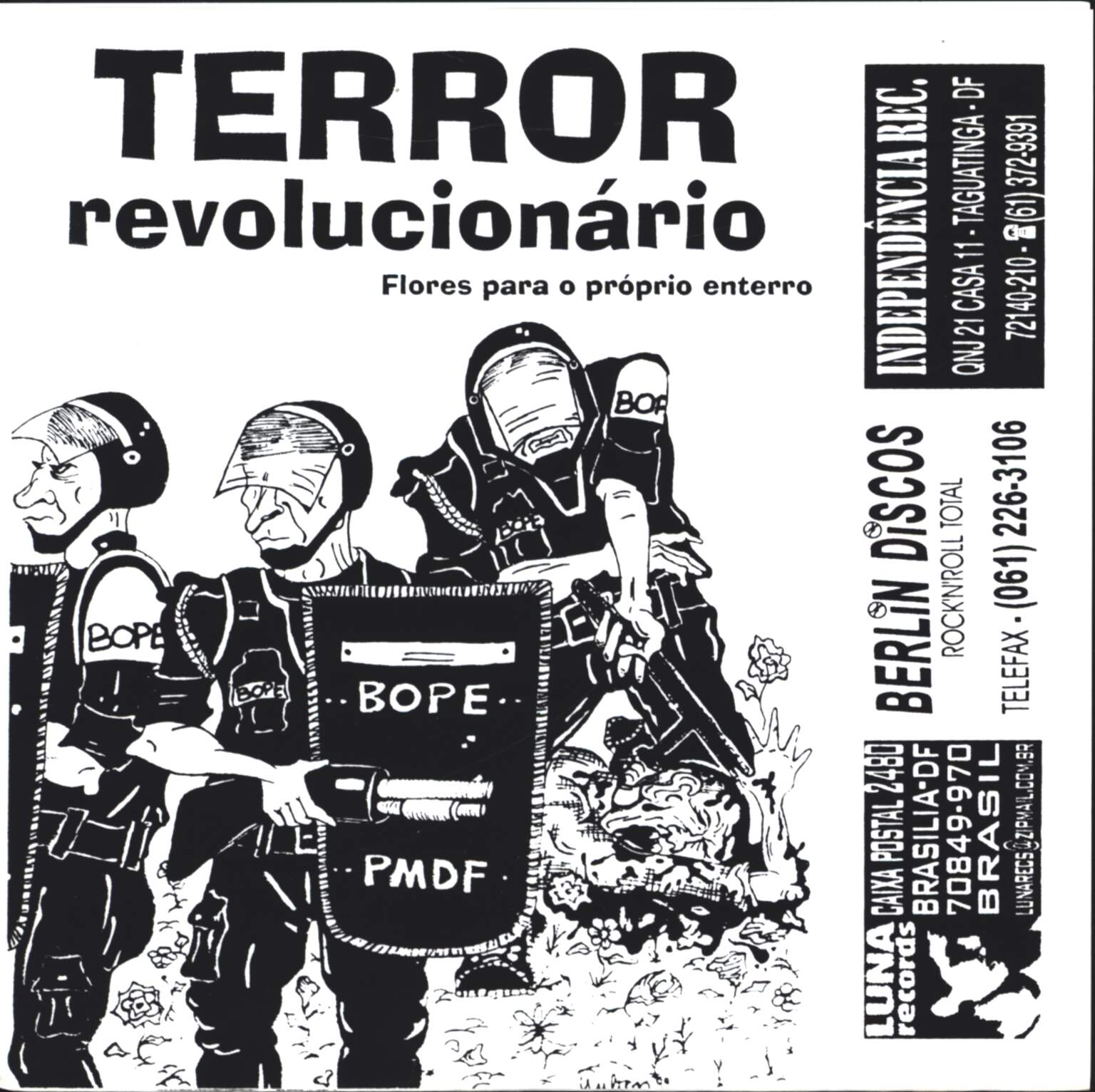 "Terror Revolucionario: Flores Para O Propio Enterro / The Flower, 7"" Single (Vinyl)"